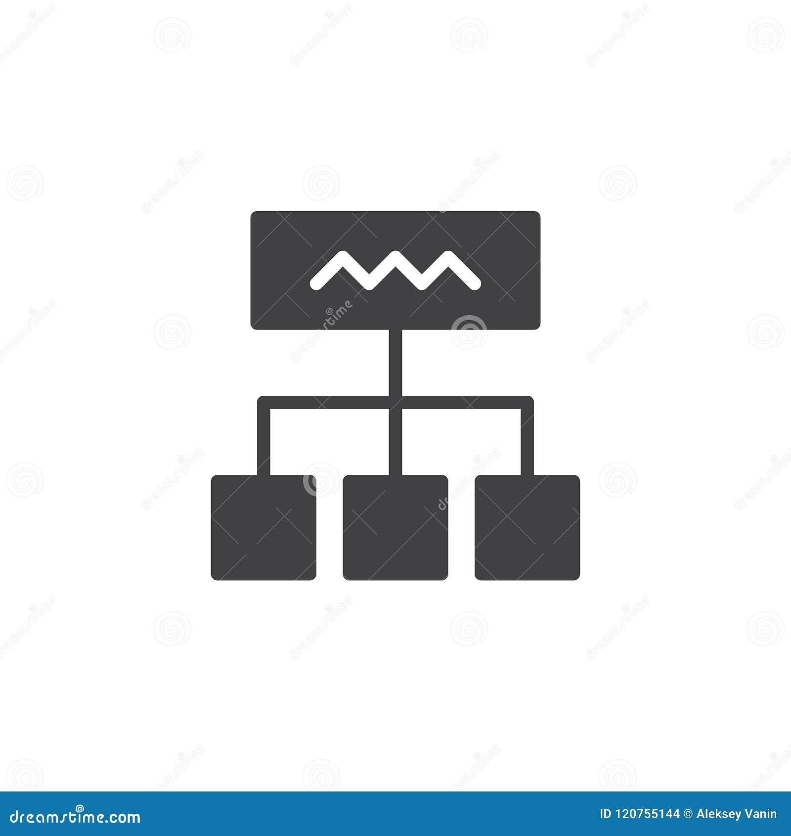 Icono del vector del diagrama