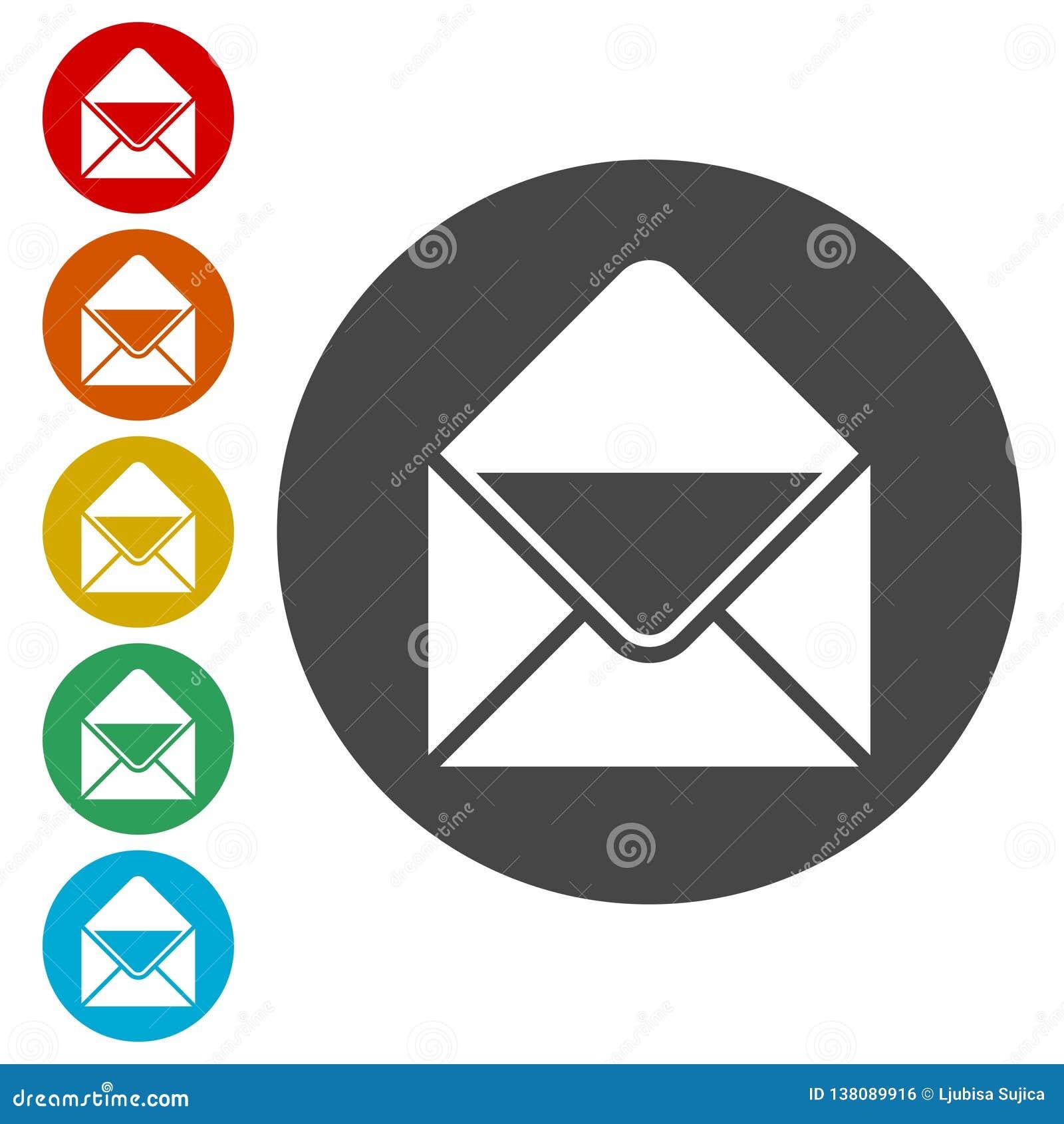 Icono del vector del email, icono del email