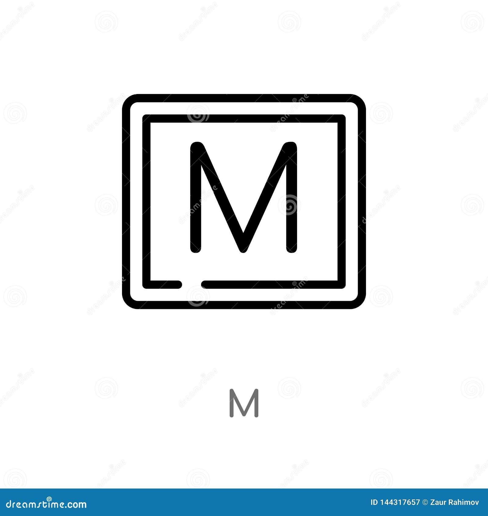 Icono del vector del esquema m l?nea simple negra aislada ejemplo del elemento de se?alar concepto icono editable del movimiento