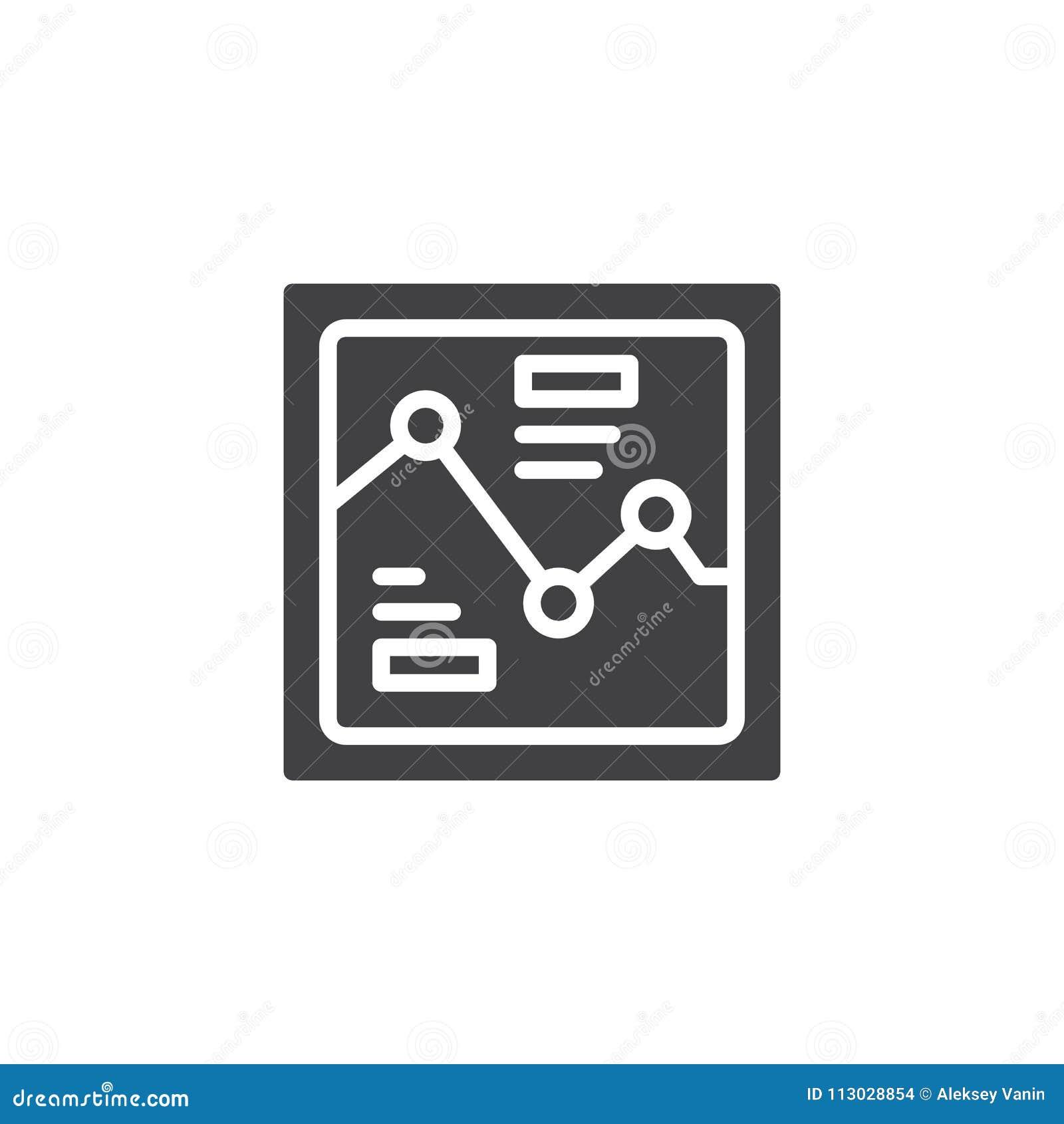 Icono del vector del gráfico del Analytics