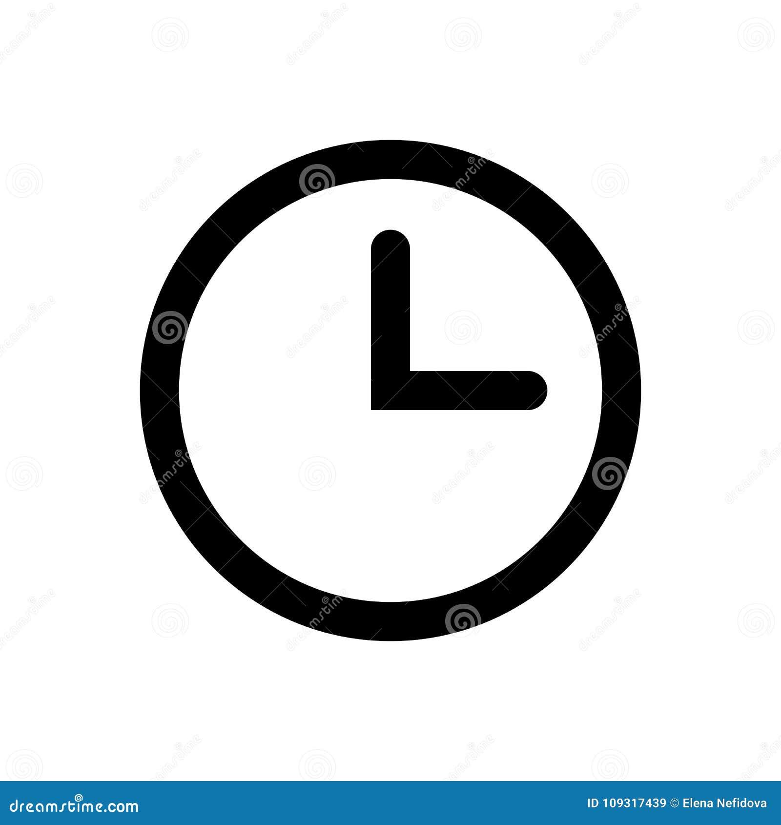 Icono del vector del reloj