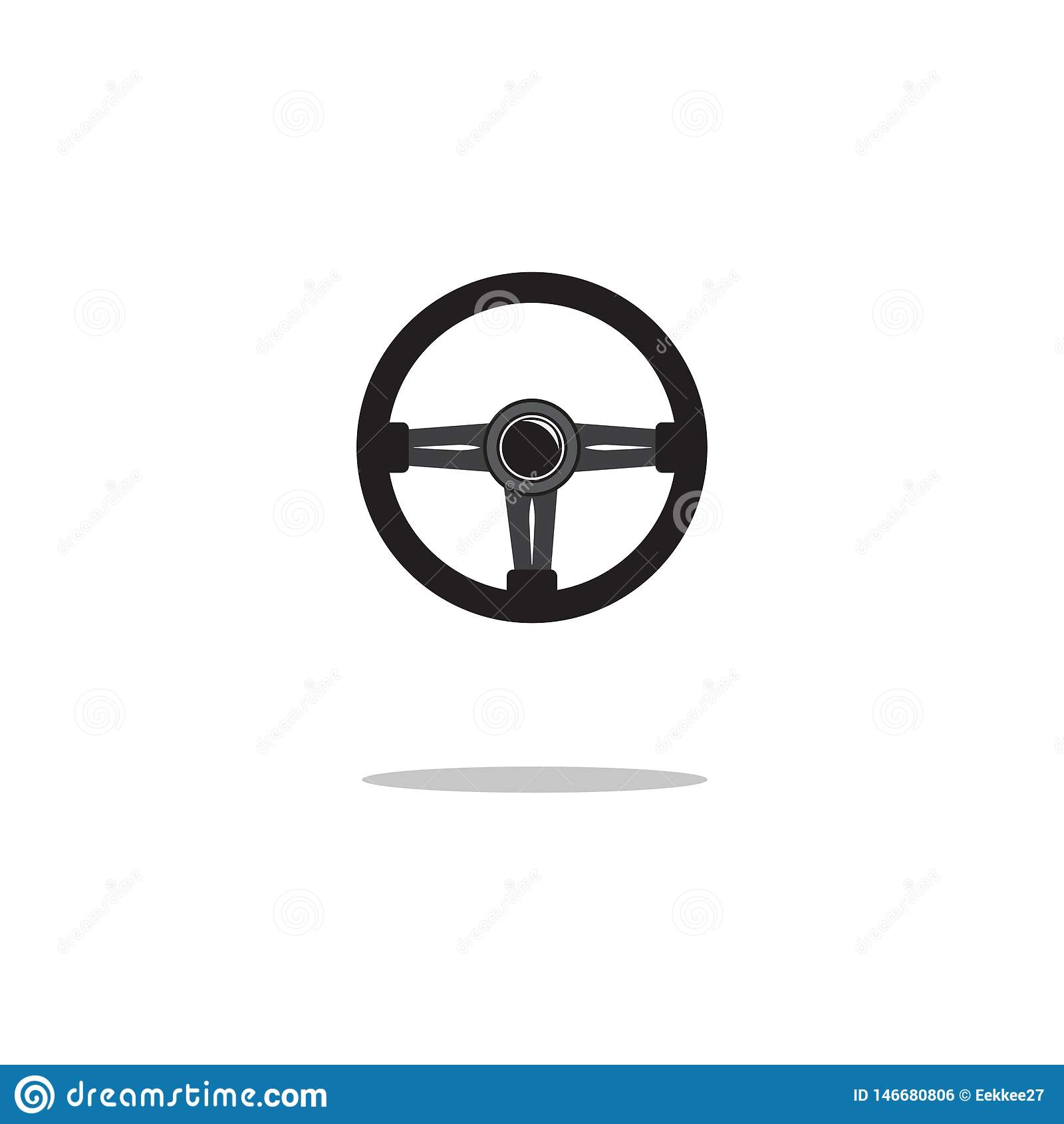 Icono del volante aislado Ilustraci?n del vector