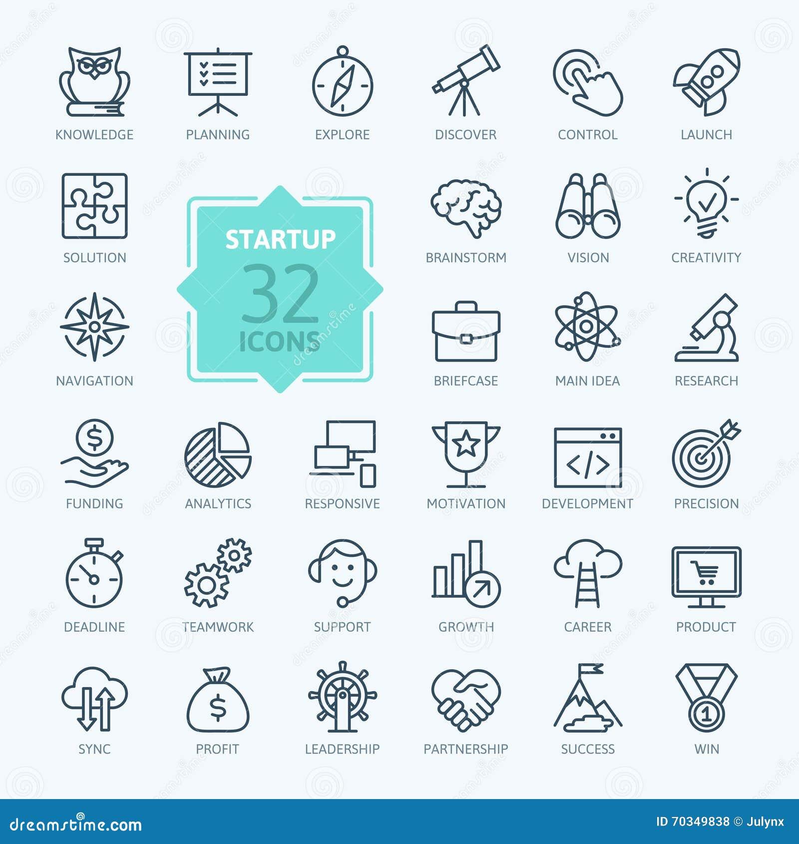 Icono del web del esquema fijado - proyecto de lanzamiento