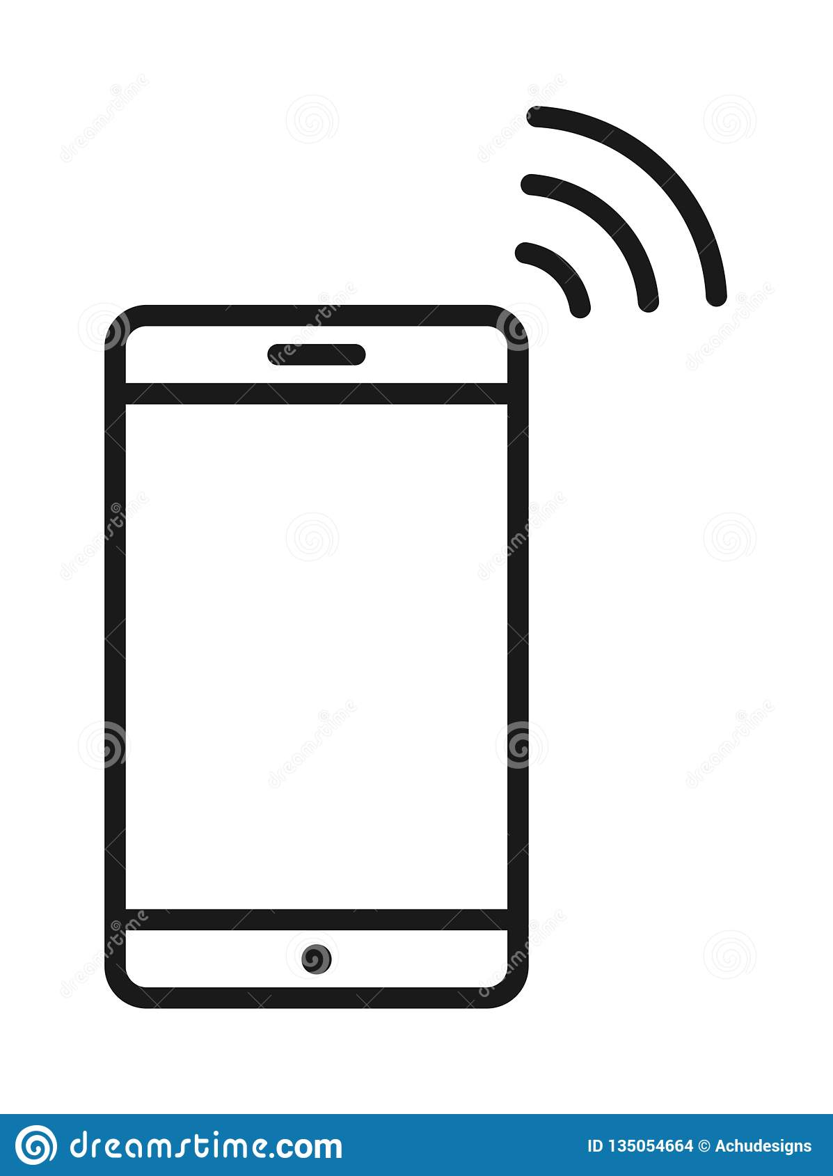 Icono del wifi del teléfono móvil
