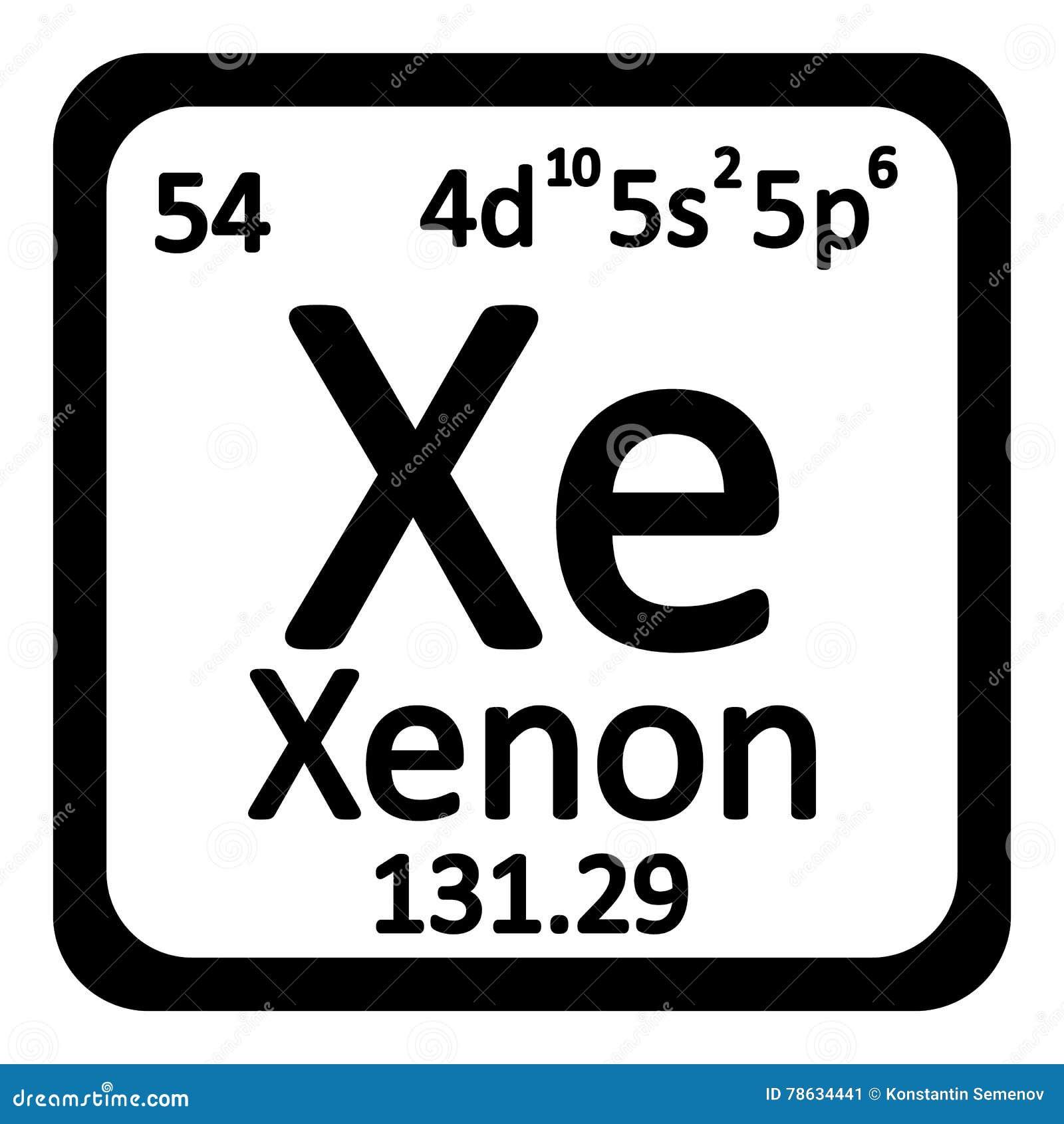 Icono del xenn del elemento de tabla peridica stock de icono del xenn del elemento de tabla peridica urtaz Images