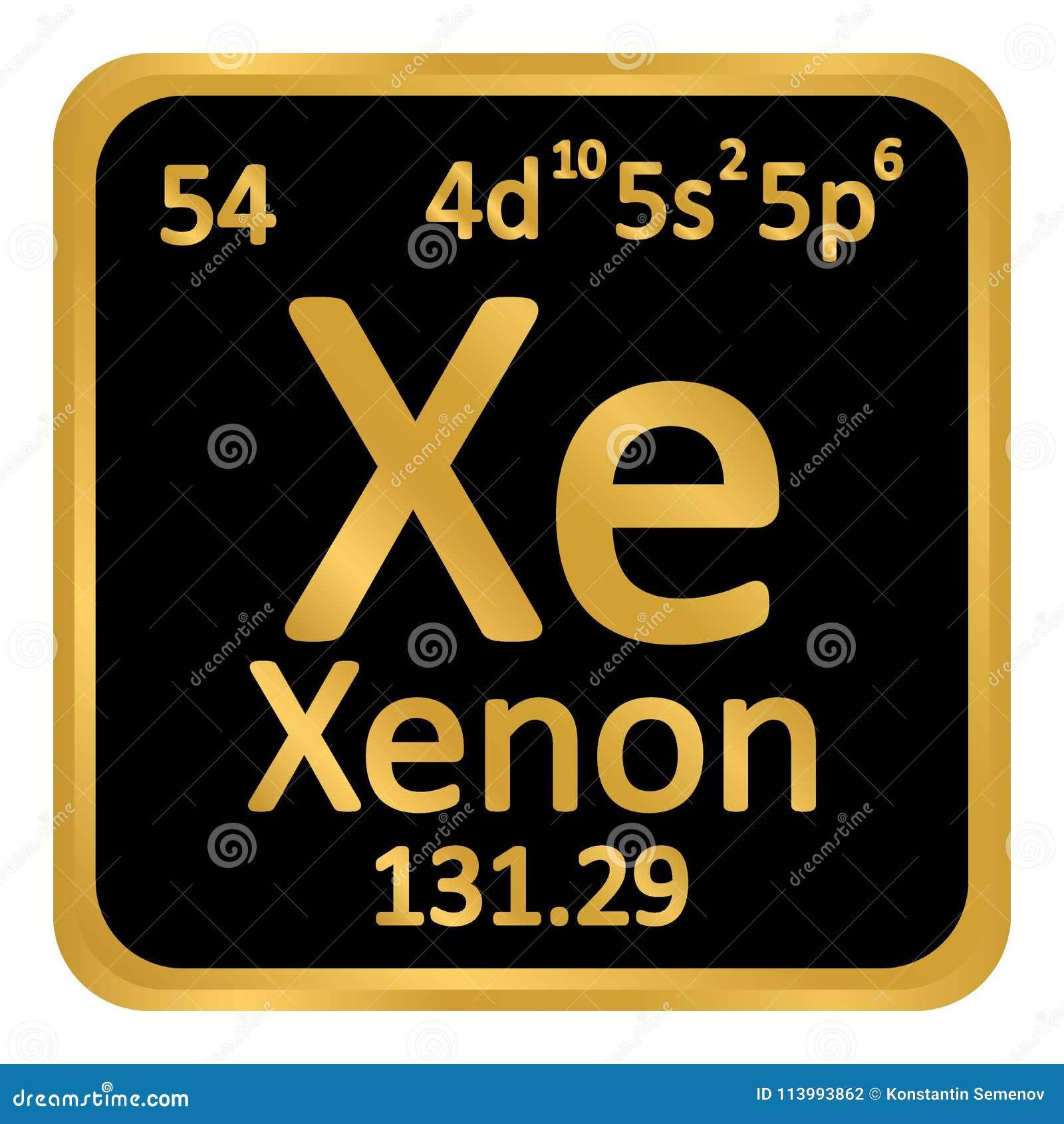icono del xenn del elemento de tabla peridica