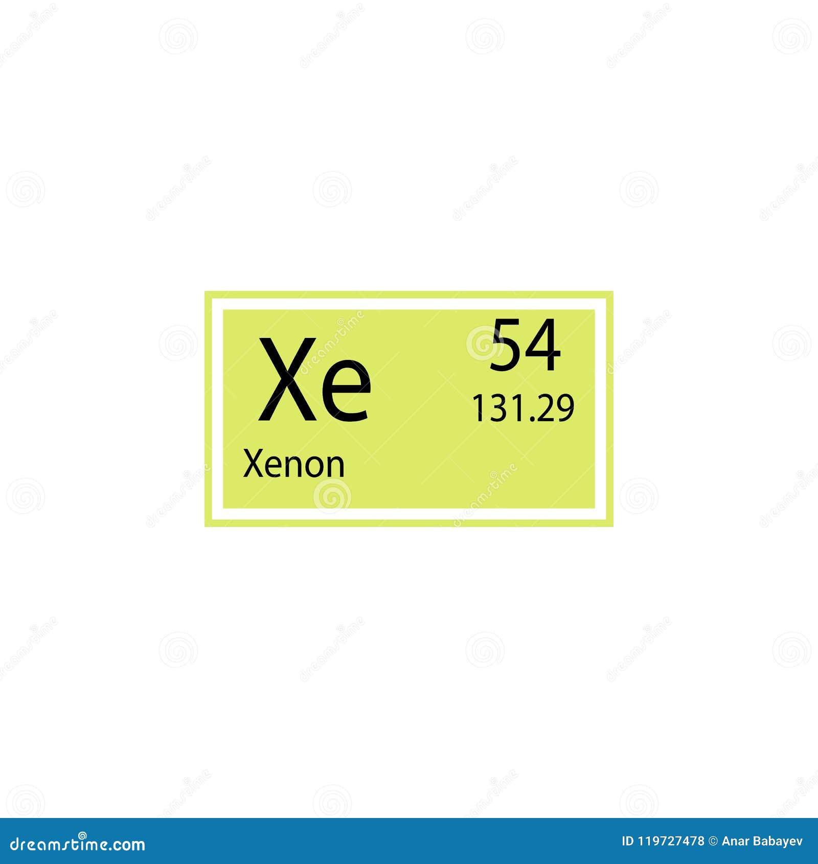 icono del xenn del elemento de tabla peridica elemento del icono qumico de la muestra icono