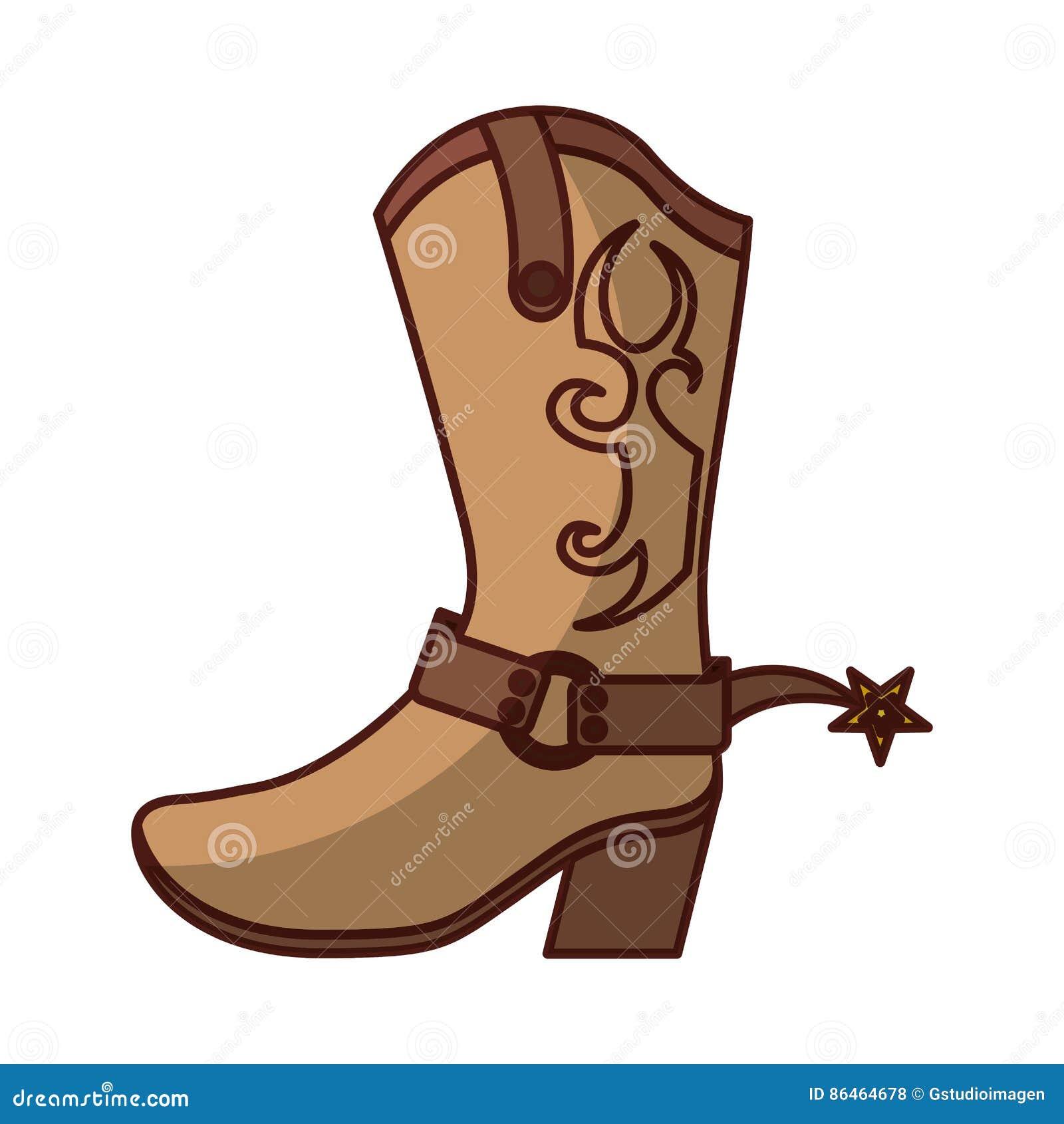 Diseño del ejemplo del vector del icono del zapato de la bota de vaquero a14a52dcb8a