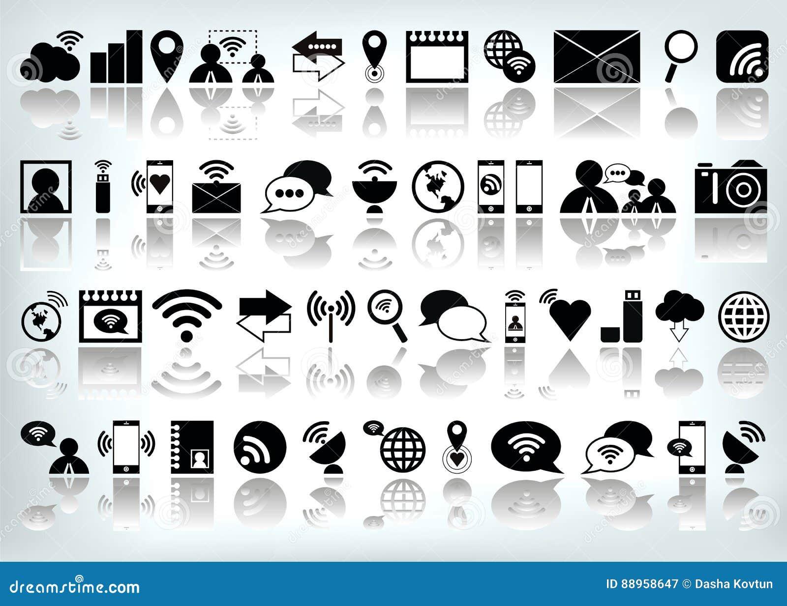 Icono determinado del ordenador del web de Internet del vector