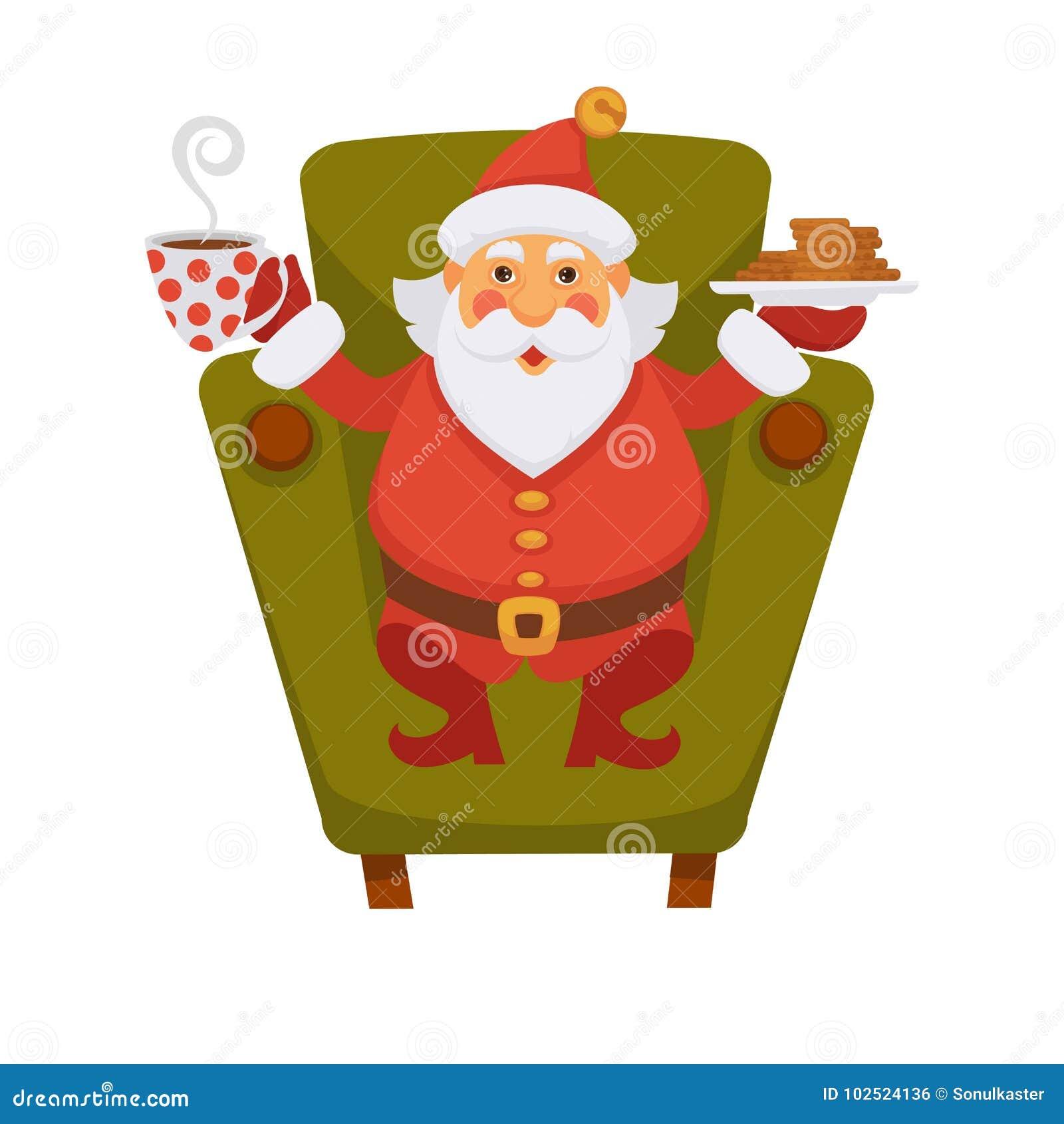 Imagenes De Galletas De Navidad Animadas.Icono Diario De Consumicion Del Vector Del Personaje De