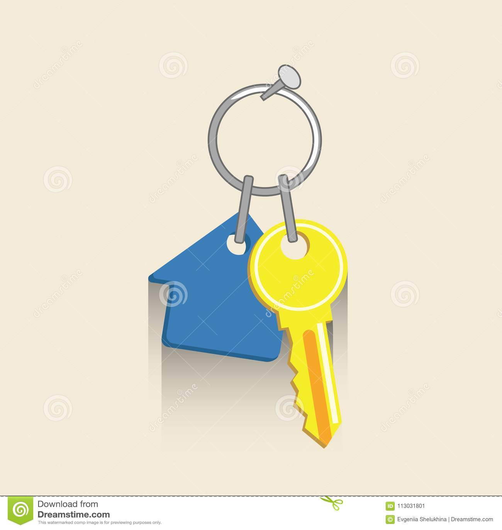 Icono dominante de la casa Ilustration del vector de las propiedades inmobiliarias