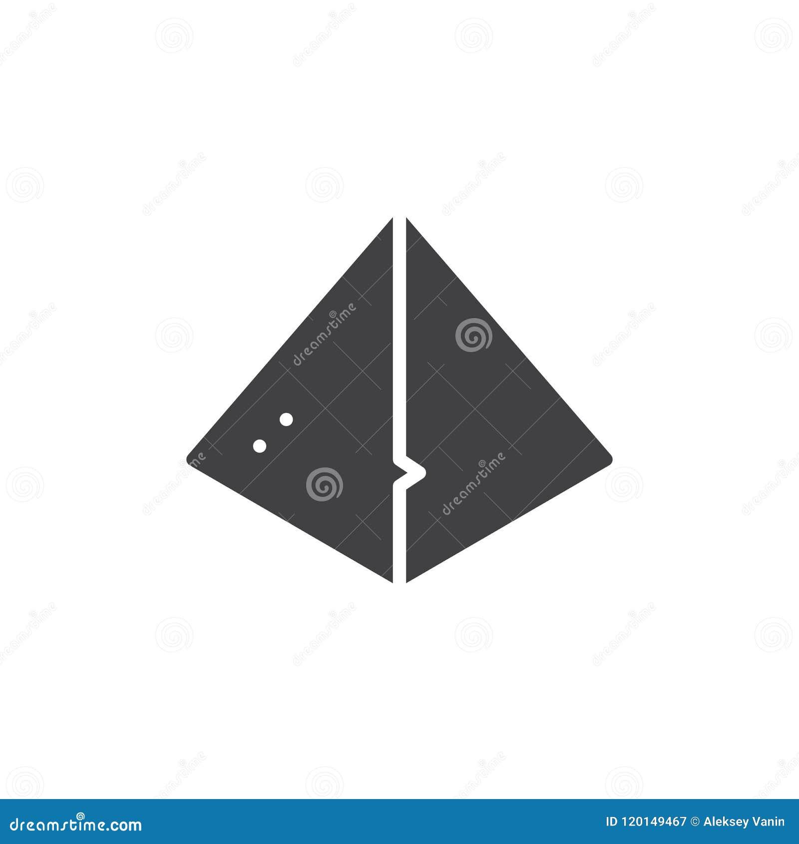 Icono egipcio del vector de la pirámide
