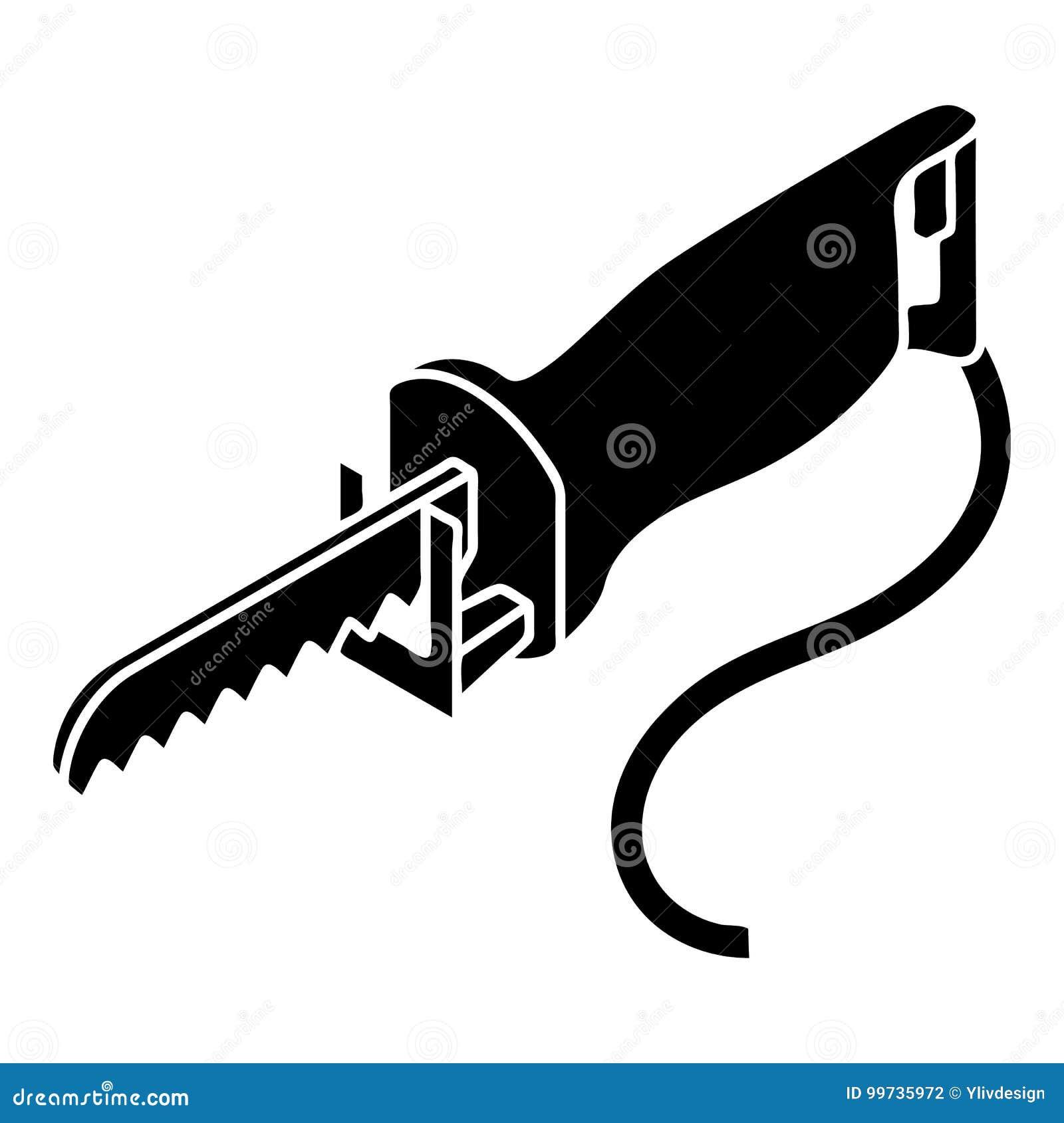 Icono eléctrico de la sierra del polo, estilo simple