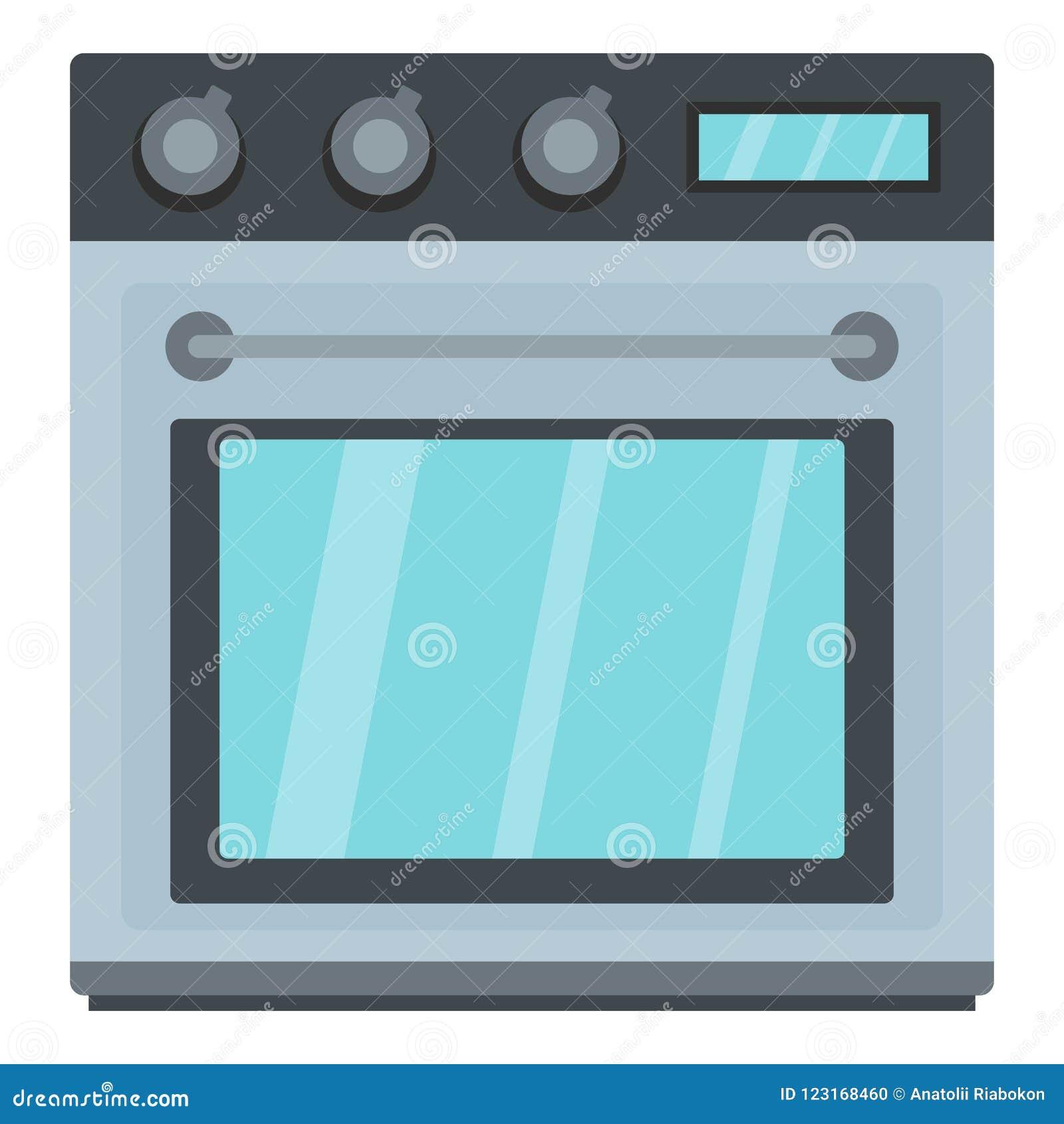 Icono eléctrico del horno, estilo de la historieta