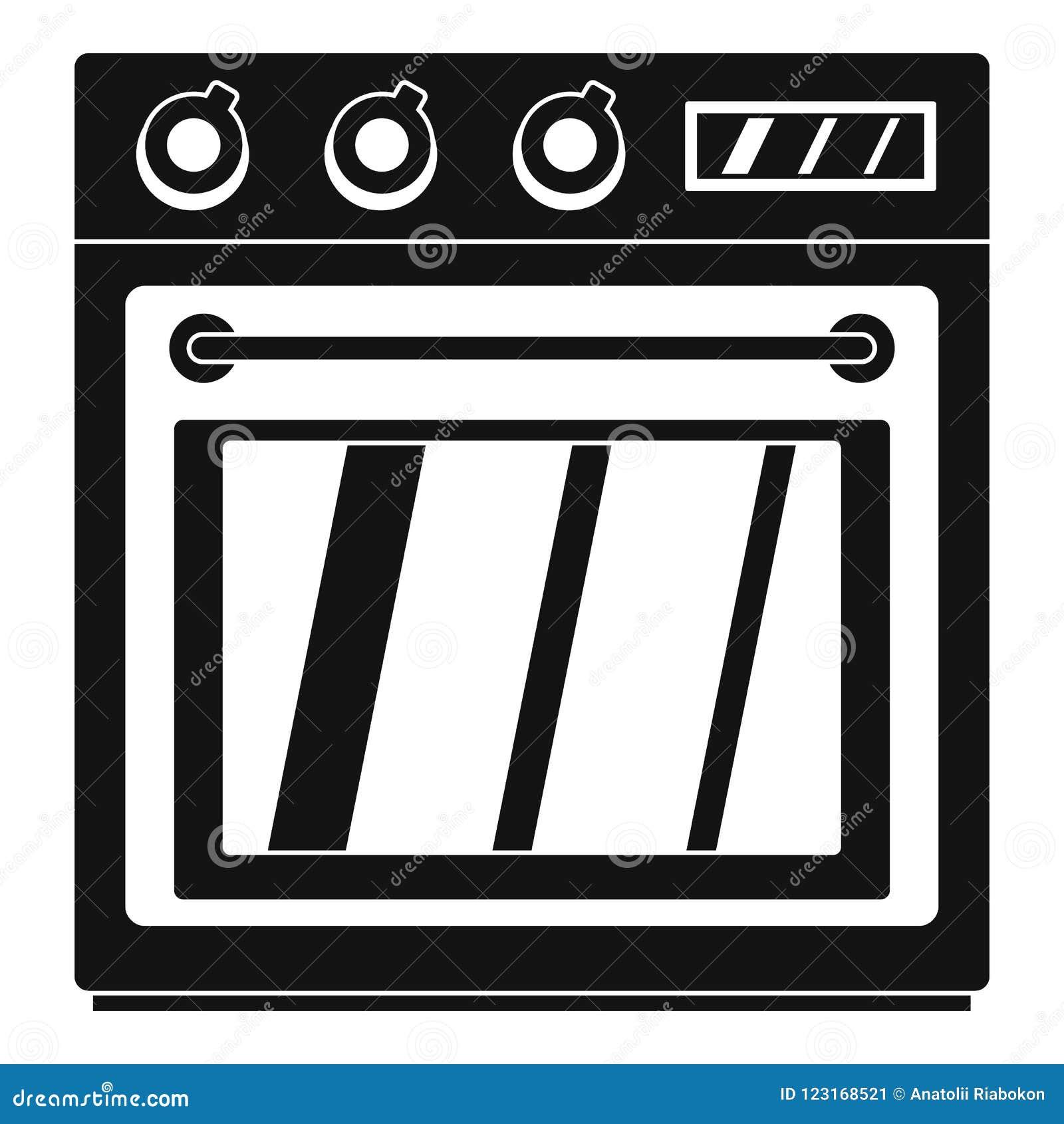 Icono eléctrico del horno, estilo simple