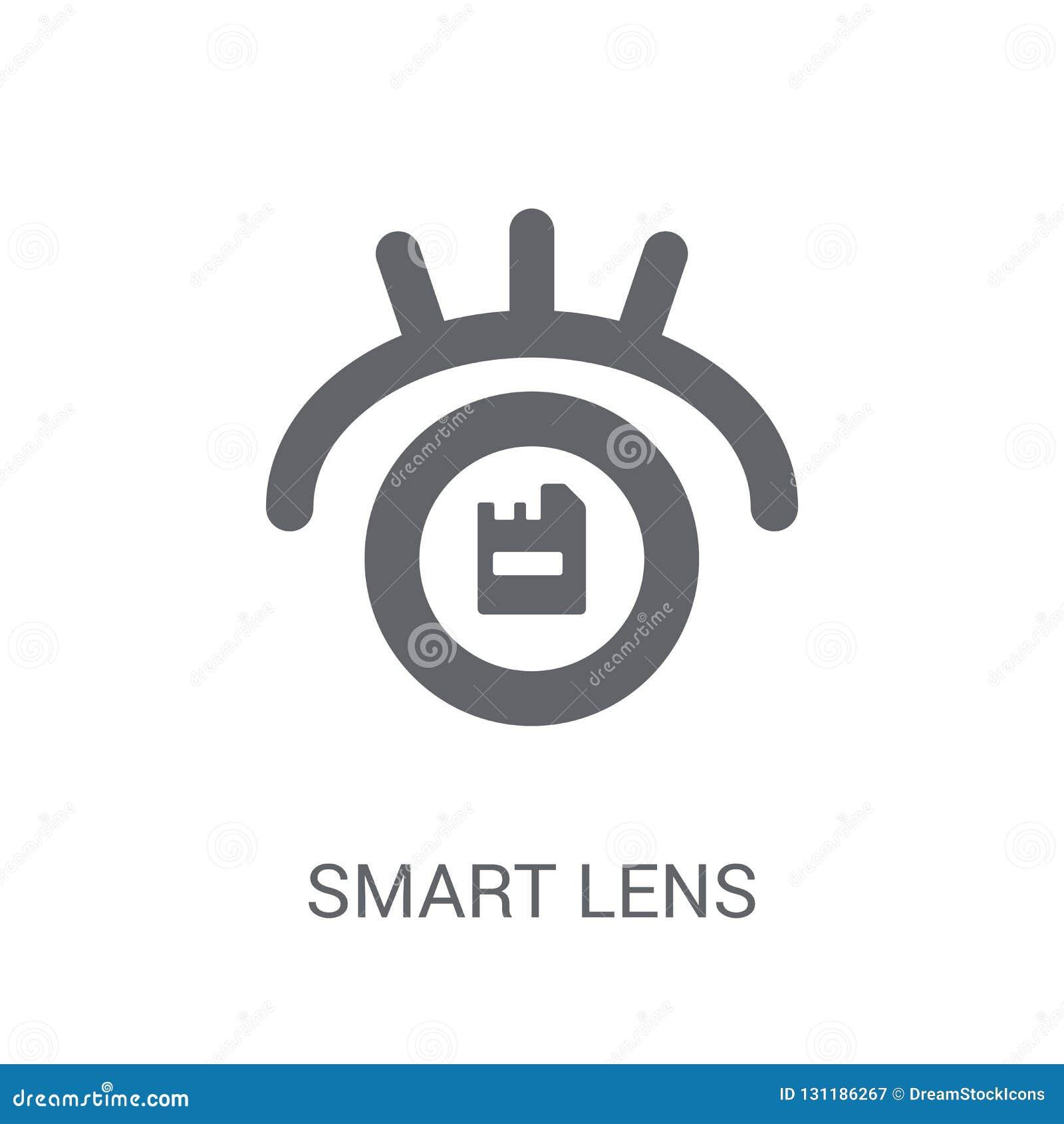 Icono elegante de la lente