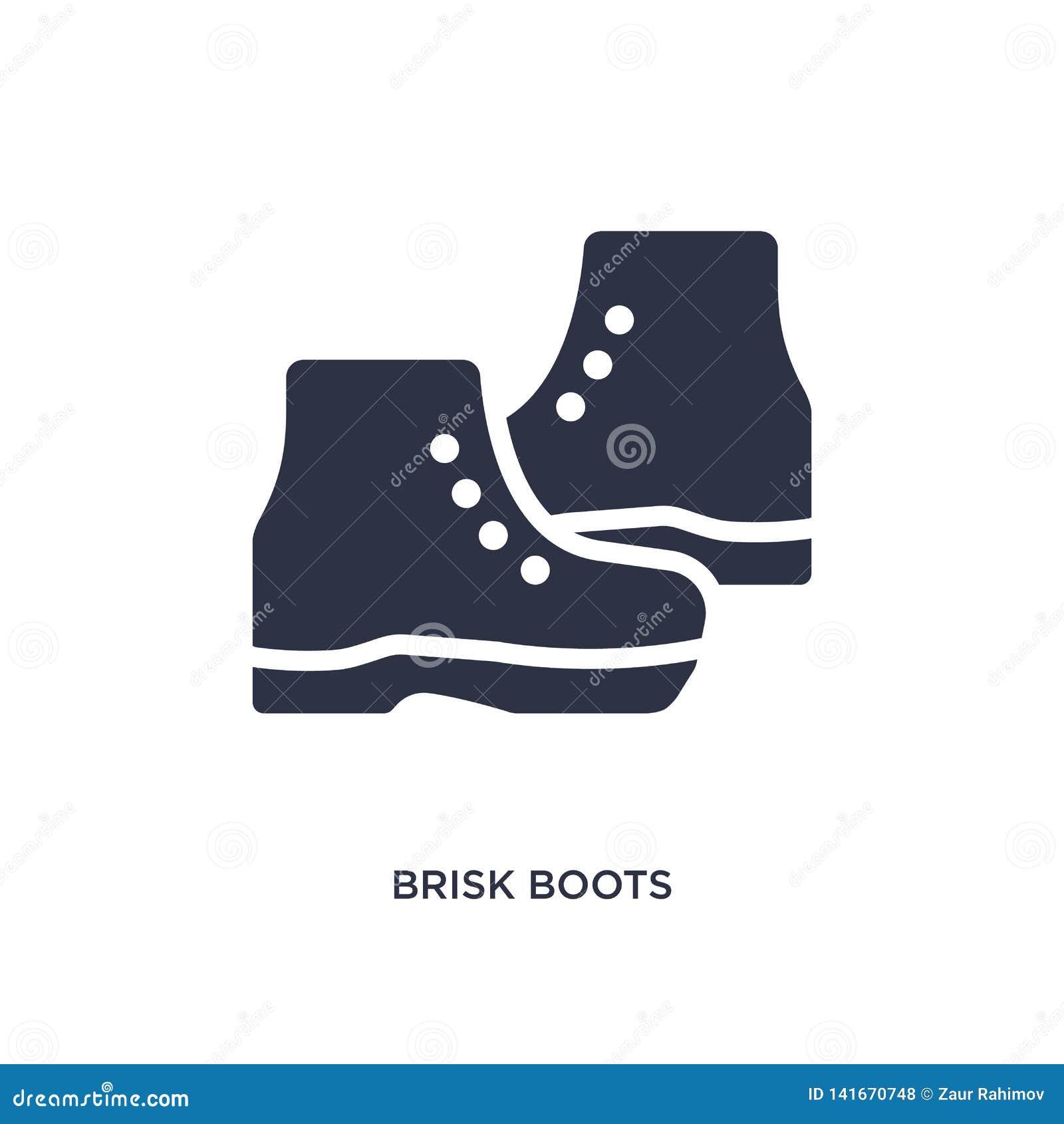 Icono enérgico de las botas en el fondo blanco Ejemplo simple del elemento del concepto de la ropa