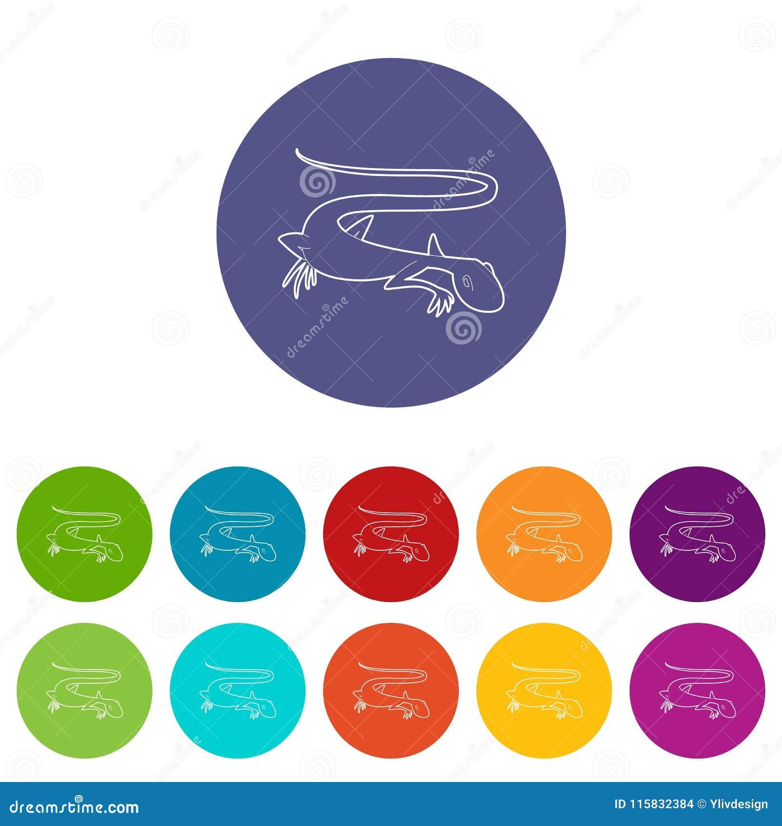Icono enérgico del lagarto, estilo del esquema