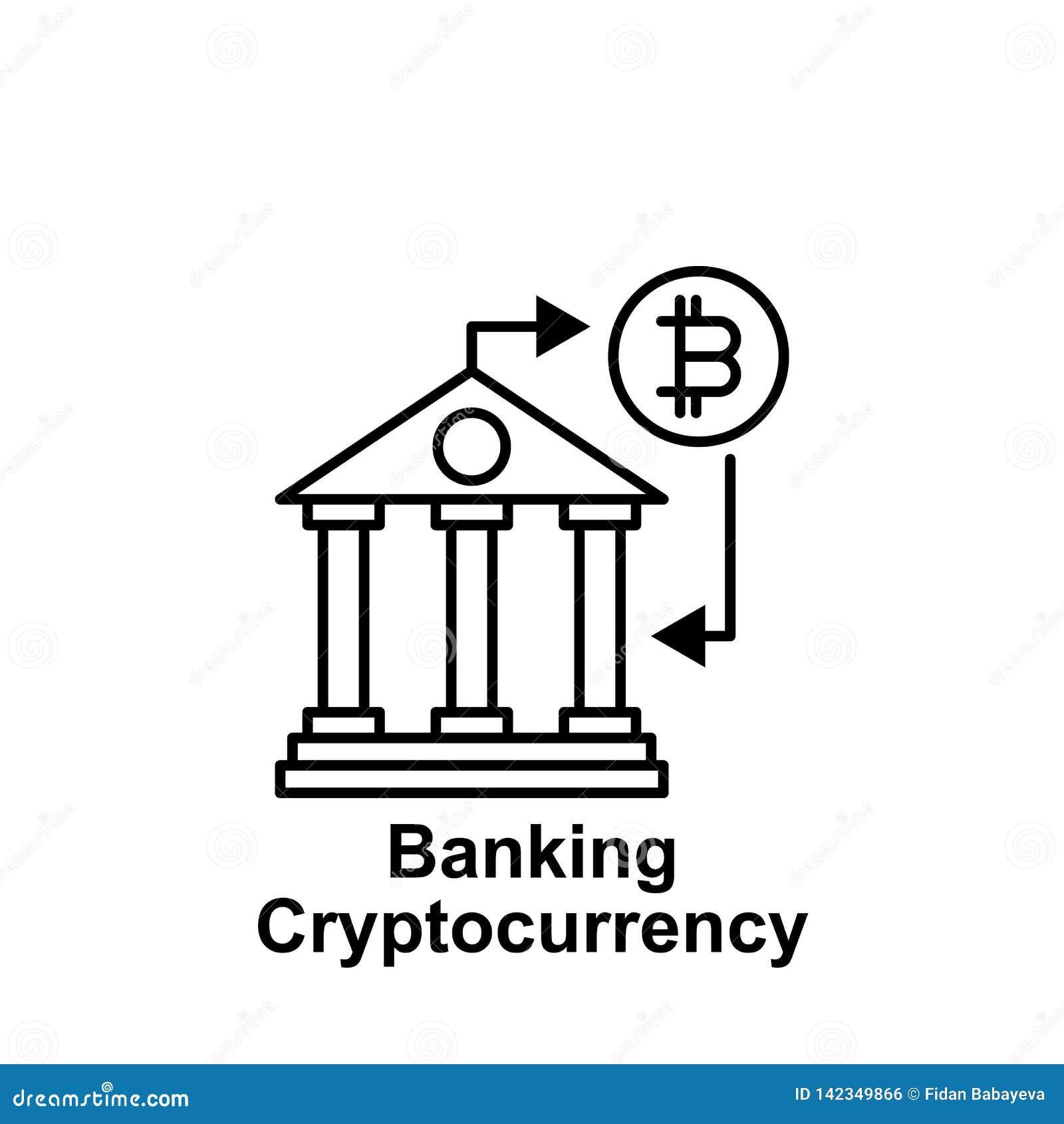 Icono en línea del esquema de las actividades bancarias de Bitcoin Elemento de los iconos del ejemplo del bitcoin Las muestras y