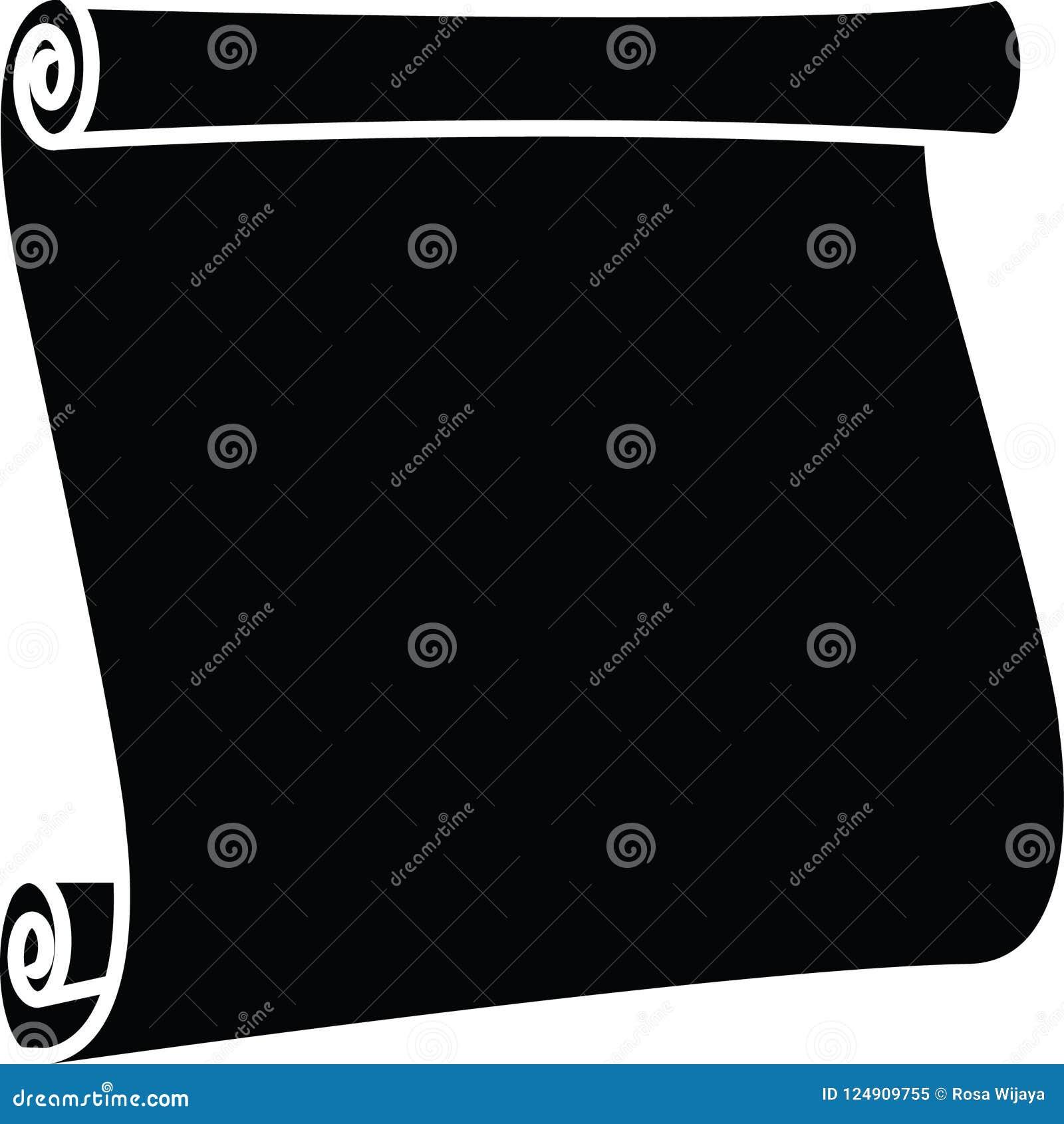 Icono encrespado de la voluta que se coloca en color negro