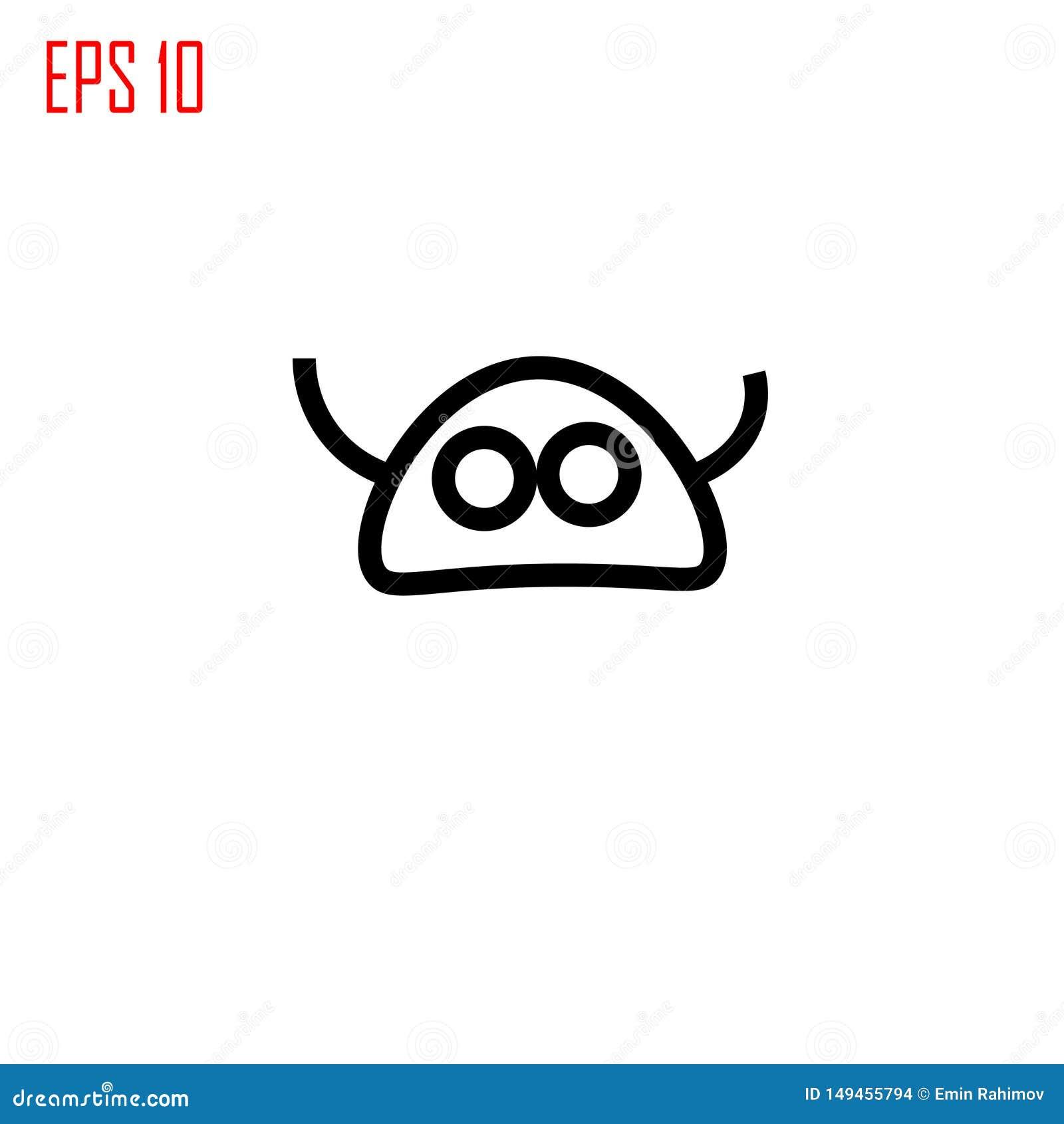 Icono extranjero La cabeza extranjera con las antenas firma