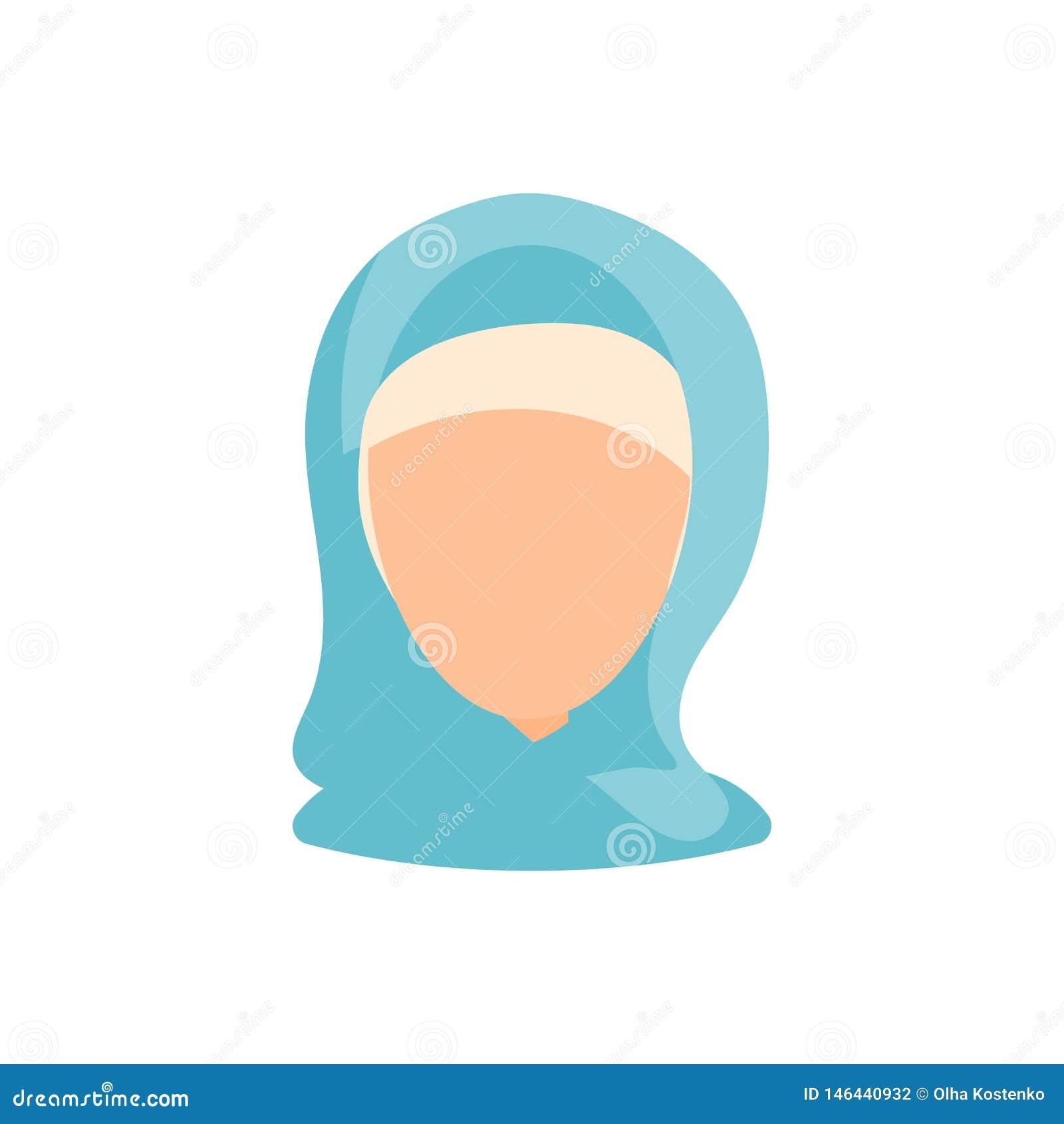 Icono femenino de la imagen del perfil del avatar del usuario Ejemplo aislado del vector en car?cter plano de la gente del dise?o