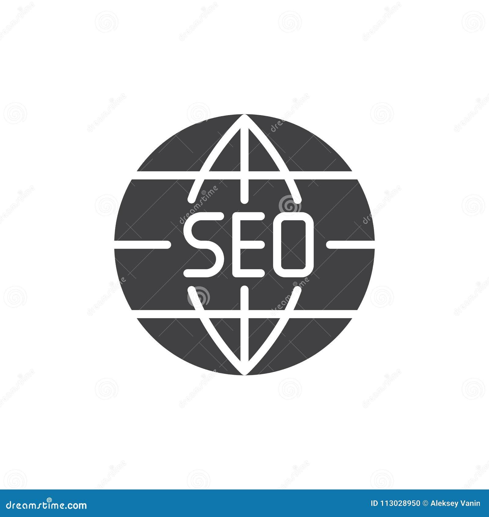 Icono global del vector del navegador de Seo
