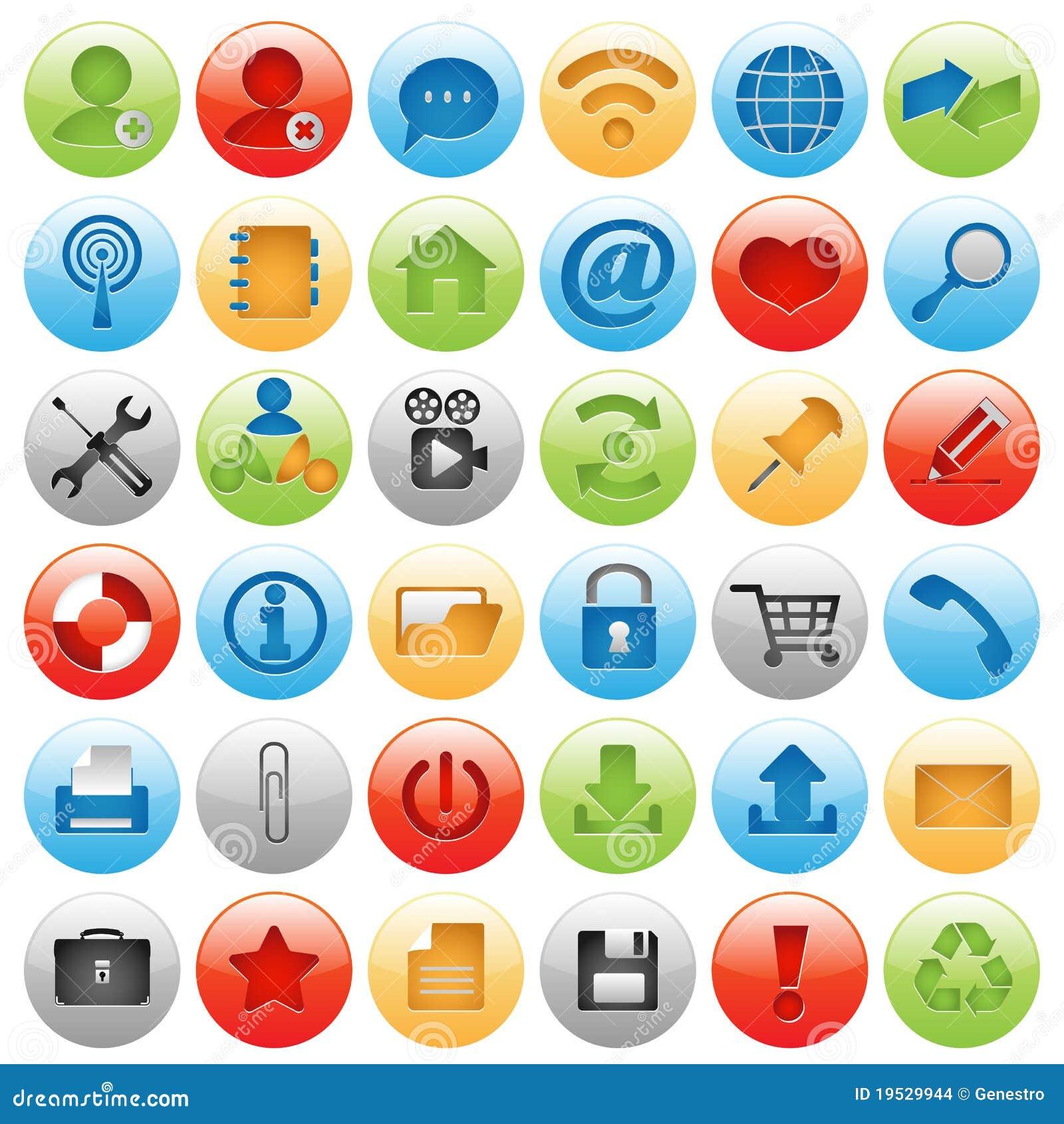 Icono grande fijado para el diseño de Web