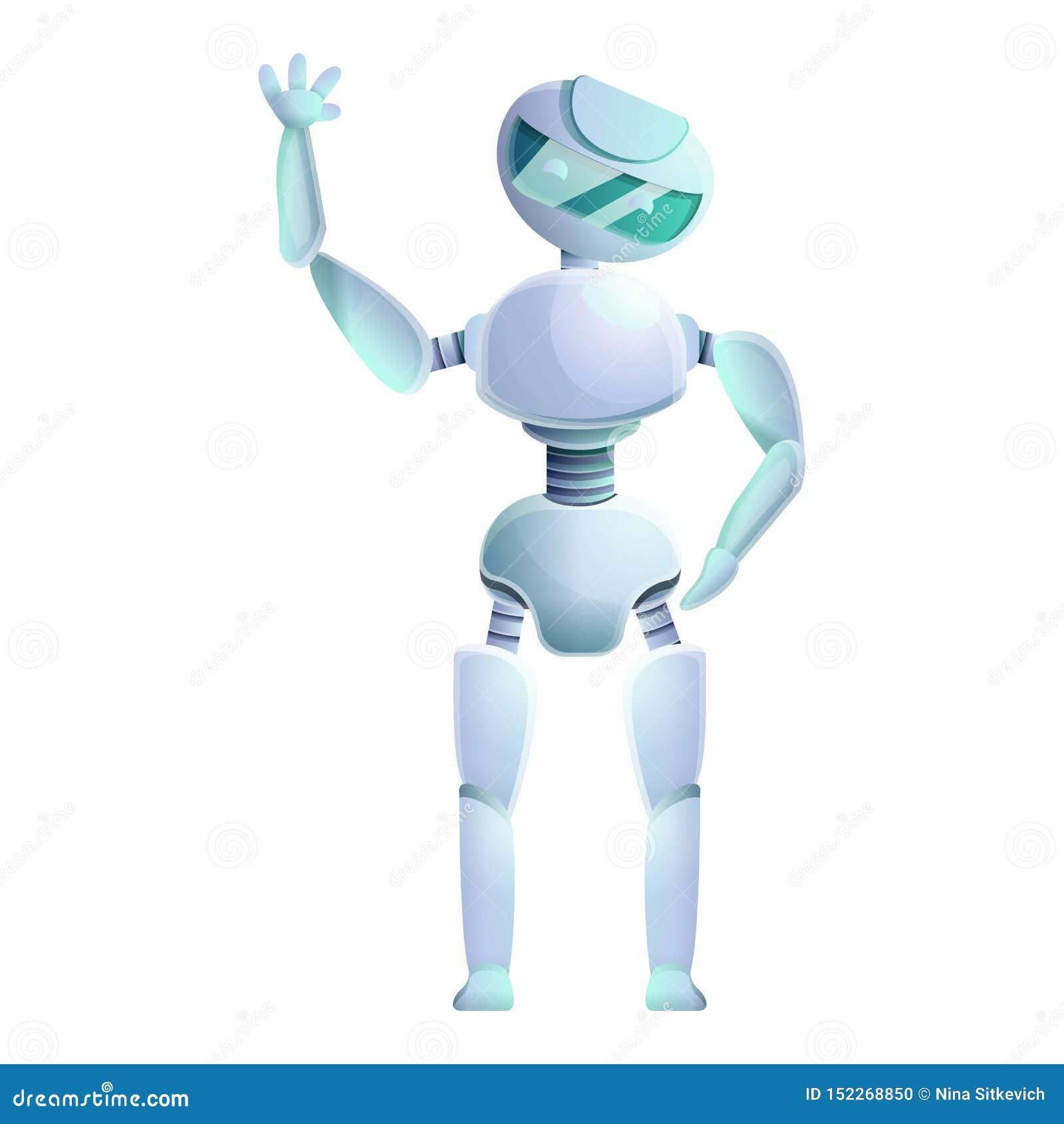 Icono humanoid del robot, estilo de la historieta