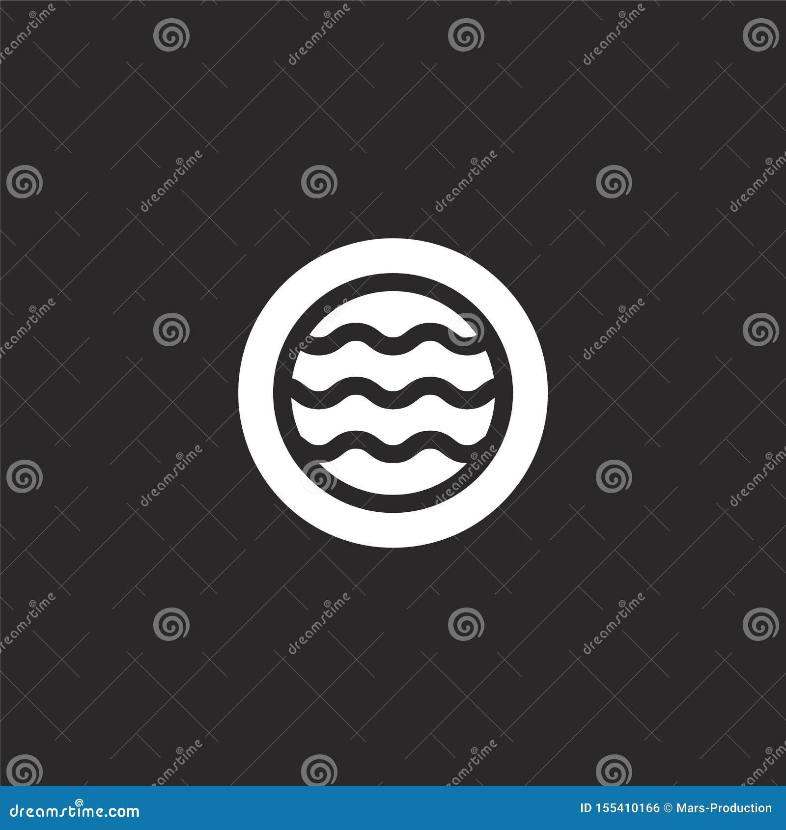 Icono inflable de la piscina Icono inflable llenado de la piscina para el diseño y el móvil, desarrollo de la página web del app
