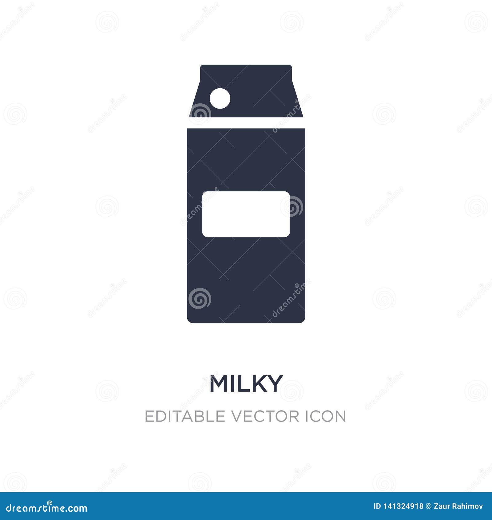 Icono lechoso en el fondo blanco Ejemplo simple del elemento del concepto de la comida