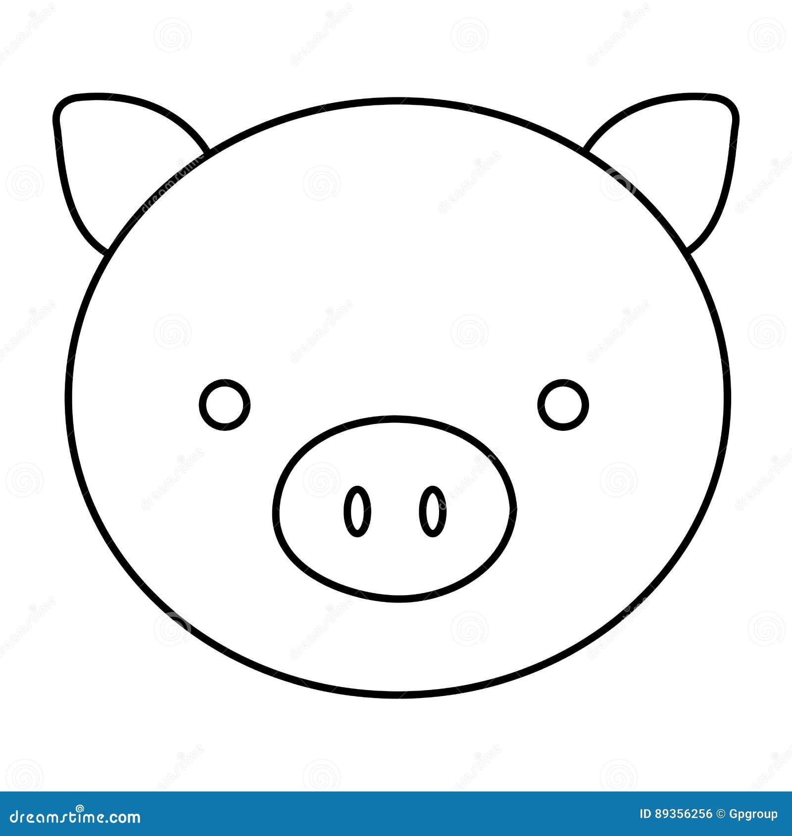 Fantástico Lindo Cerdo Para Colorear Composición - Dibujos de ...
