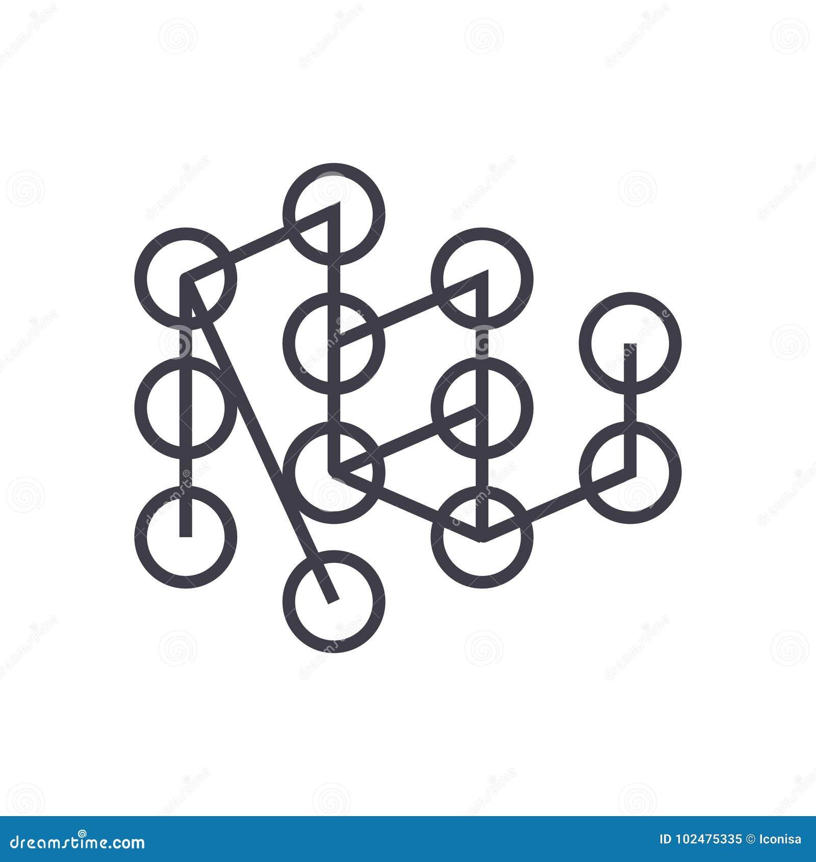 Icono linear de aprendizaje profundo del concepto, muestra, símbolo, vector en fondo aislado