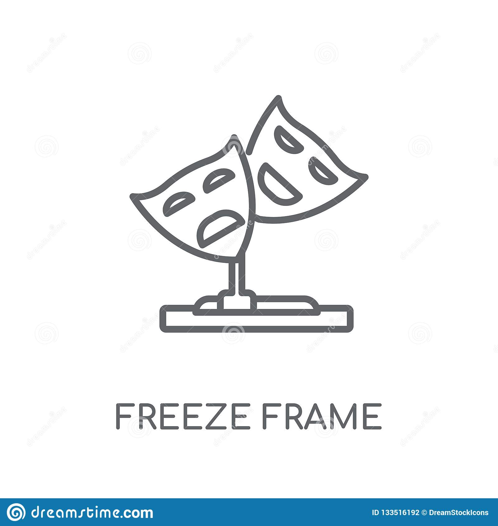 Icono linear de la imagen congelada Conce moderno del logotipo de la imagen congelada del esquema