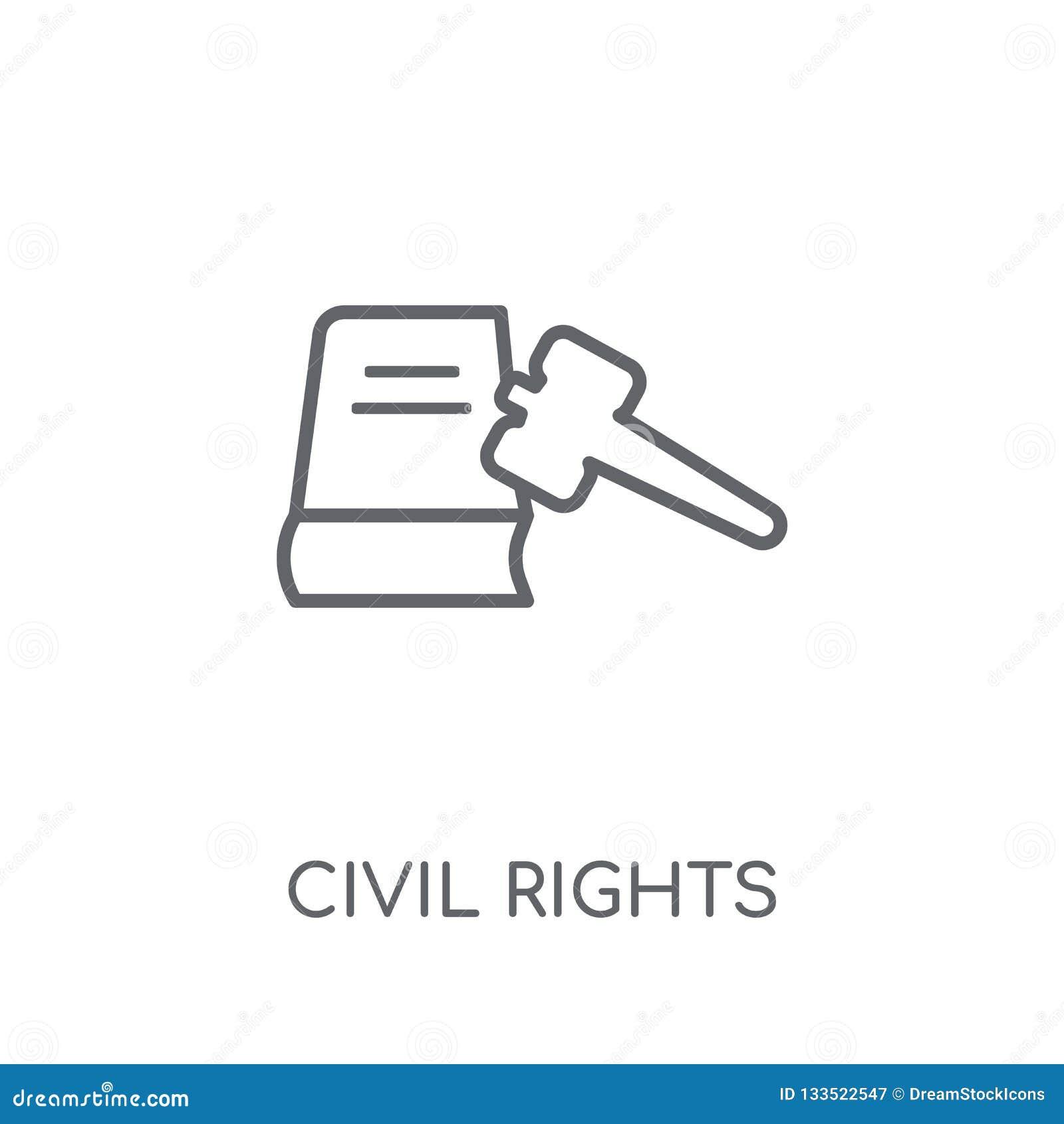 Icono linear de las derechas civiles Conce moderno del logotipo de las derechas civiles del esquema