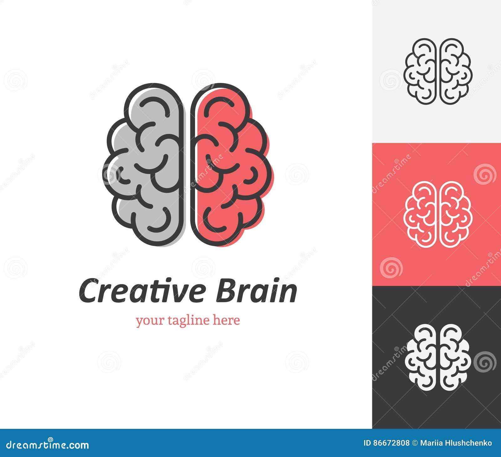 Icono linear del cerebro