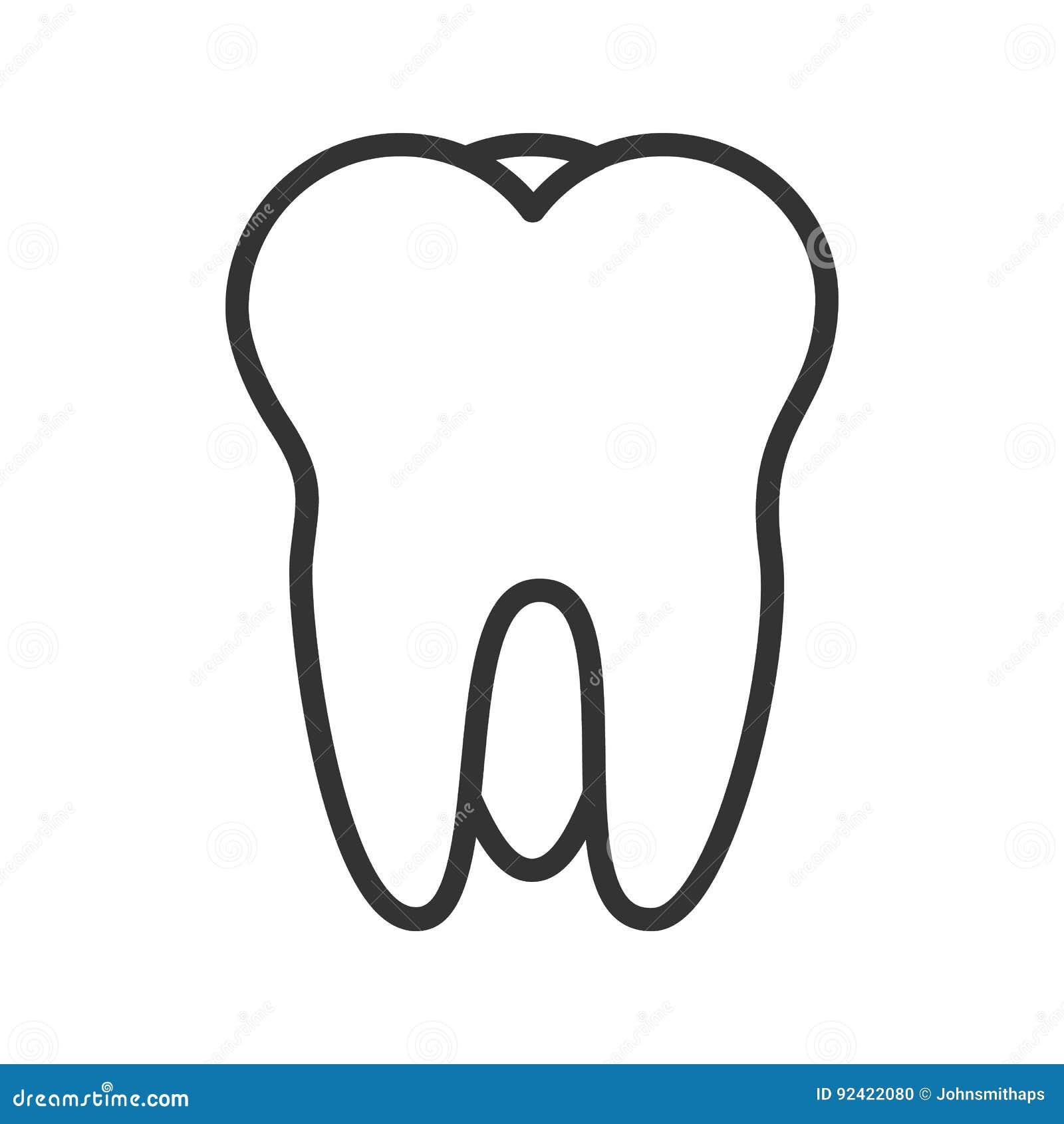 Tooth Line Drawing Tumblr : Icono linear del diente línea ejemplo fina dibujo de