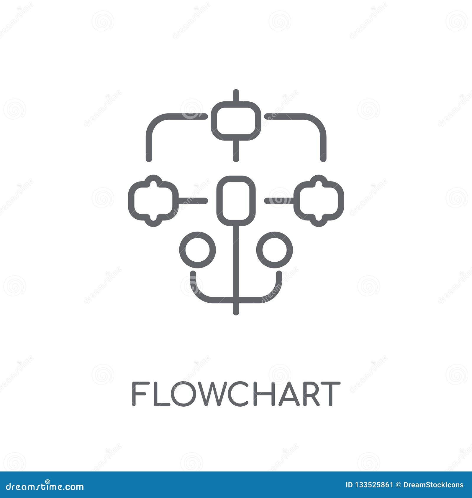 Icono linear del organigrama Concepto moderno del logotipo del organigrama de esquema encendido