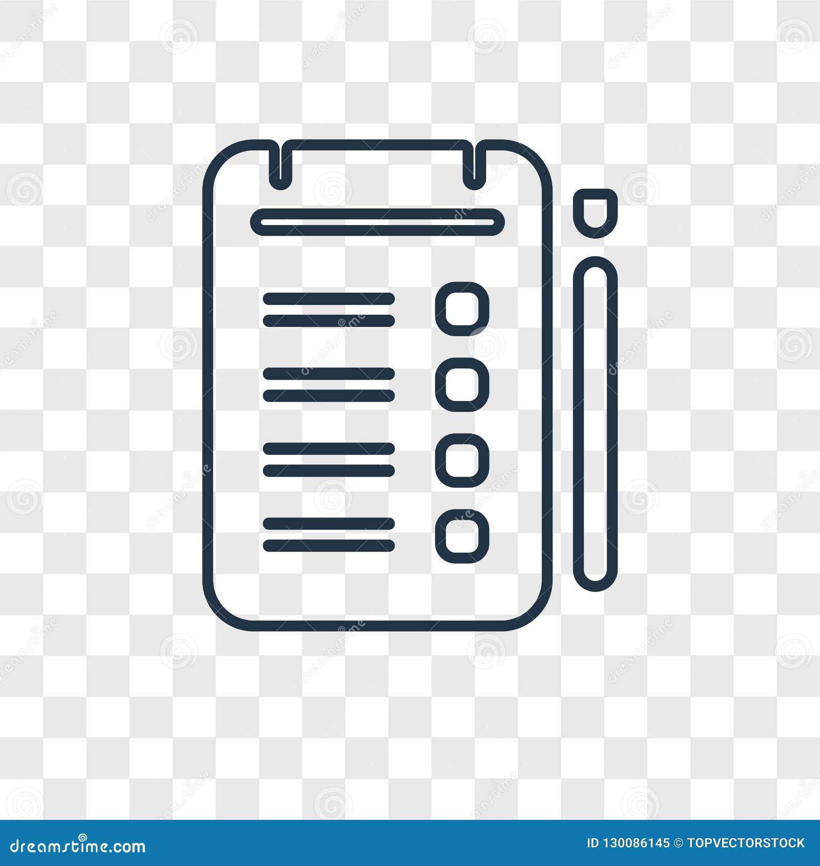 Icono linear del vector del concepto de las tabletas aislado en backg transparente