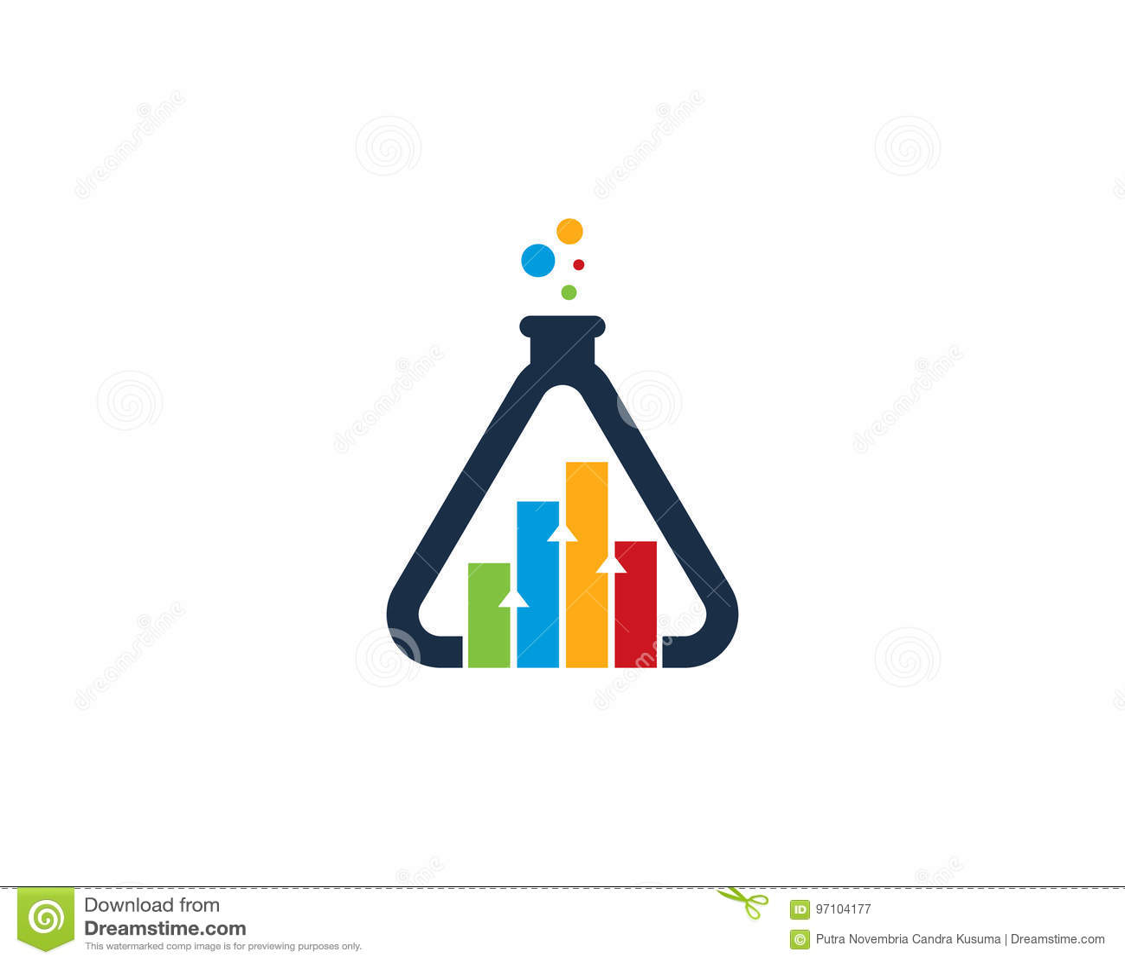 Icono Logo Design Element Del Laboratorio De Ciencia Del Informe Del ...