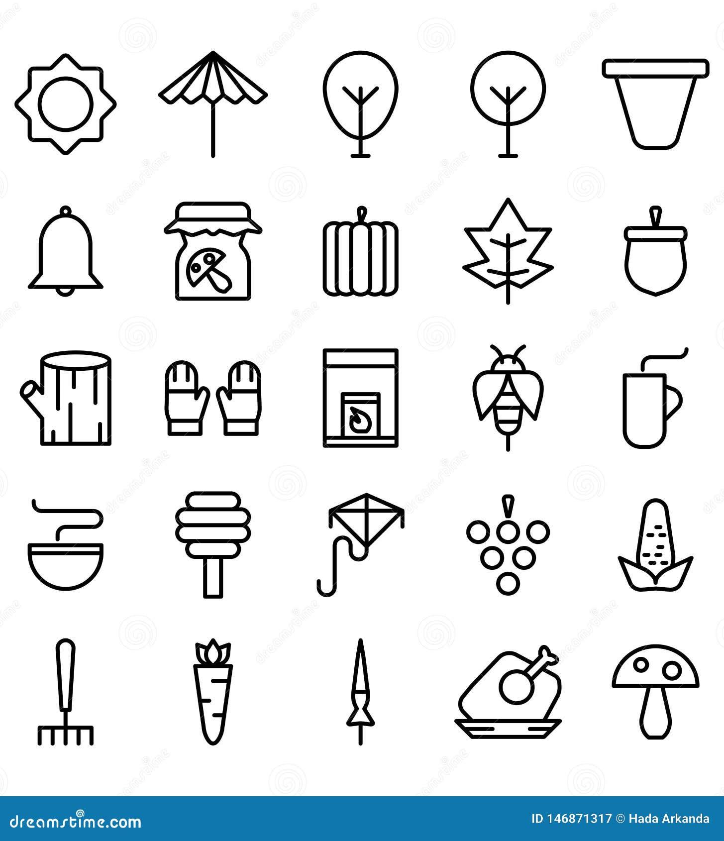 Icono Logo Vector del negro de la temporada de oto?o o ejemplo Movimiento y color Editable