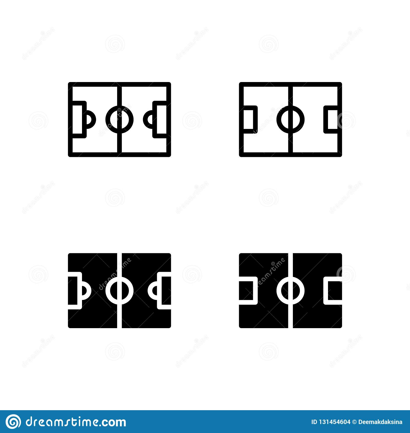 Icono Logo Vector Symbol Isolated del campo de fútbol en el fondo blanco