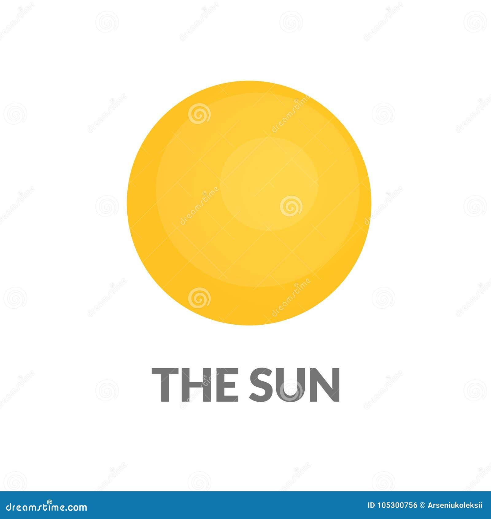 Icono muy simple del sol