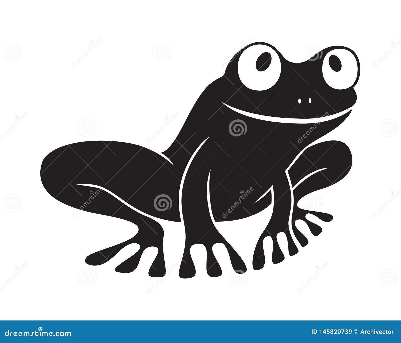 Icono negro de la rana