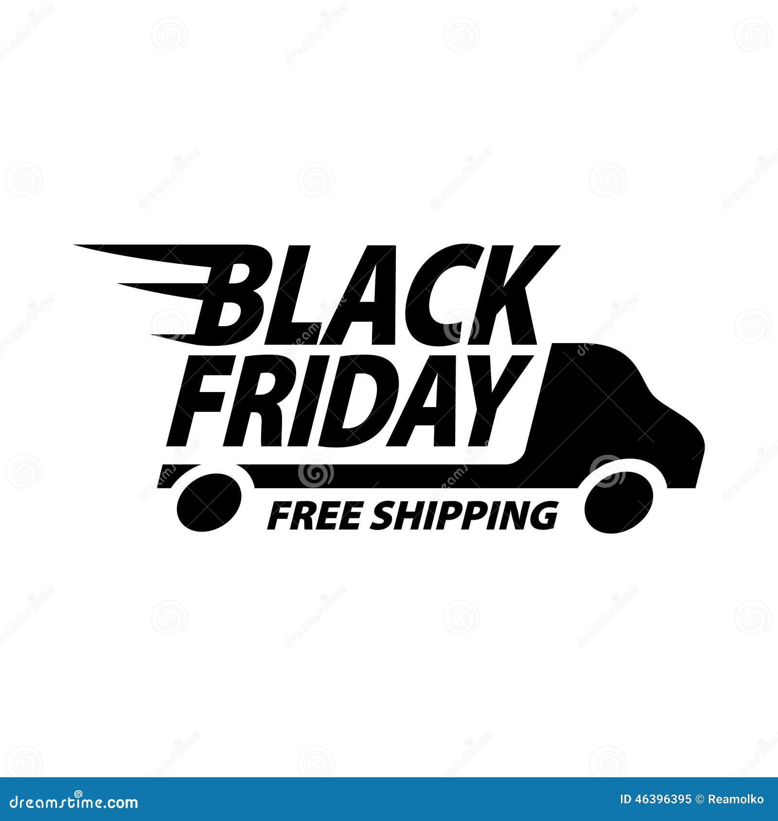 Icono negro de la venta de viernes s mbolo del env o gratis ilustraci n del vector imagen - 3 suisses black friday ...