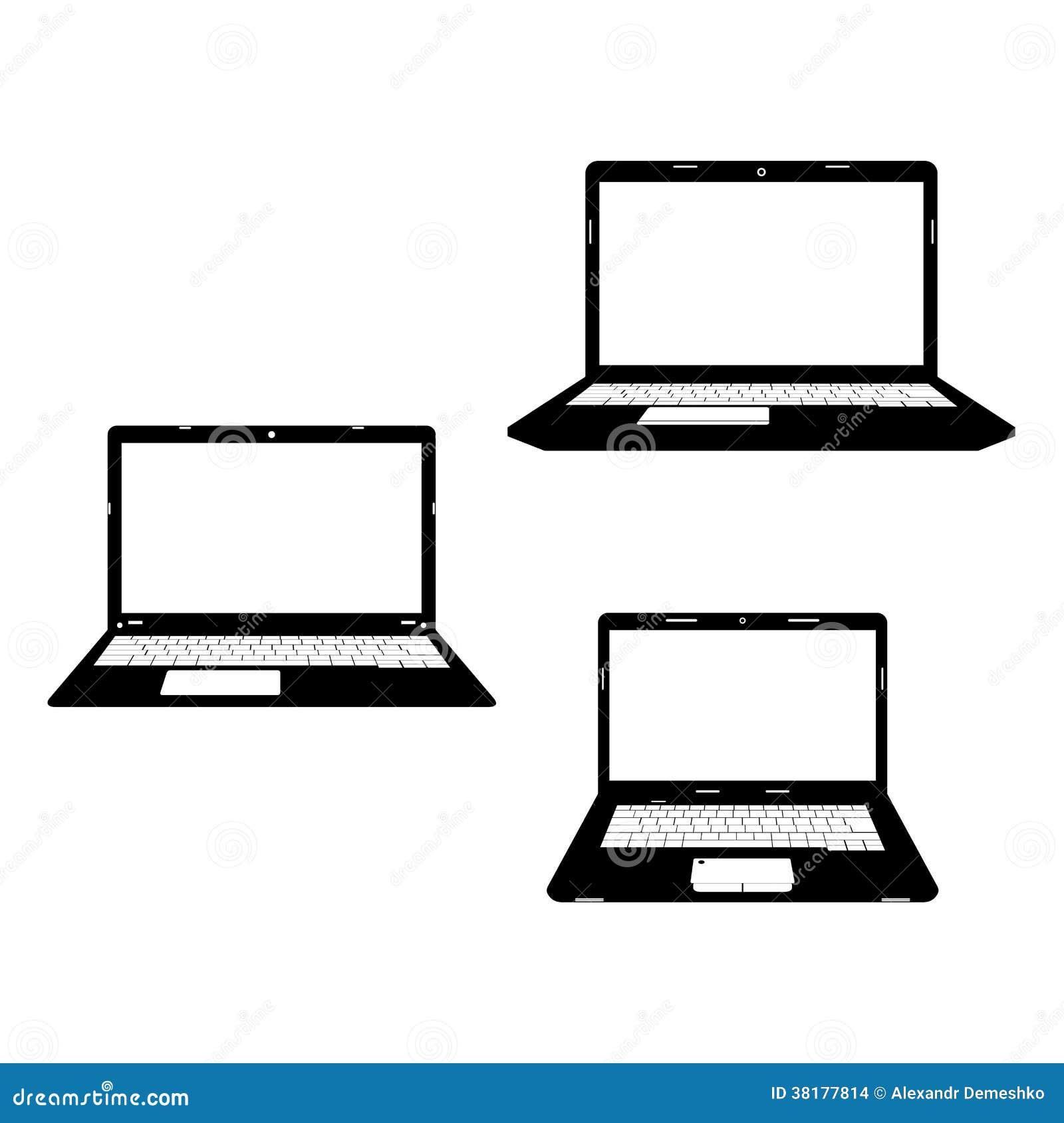 Icono negro de los ordenadores port tiles imagenes de - Fotos de ordenadores ...