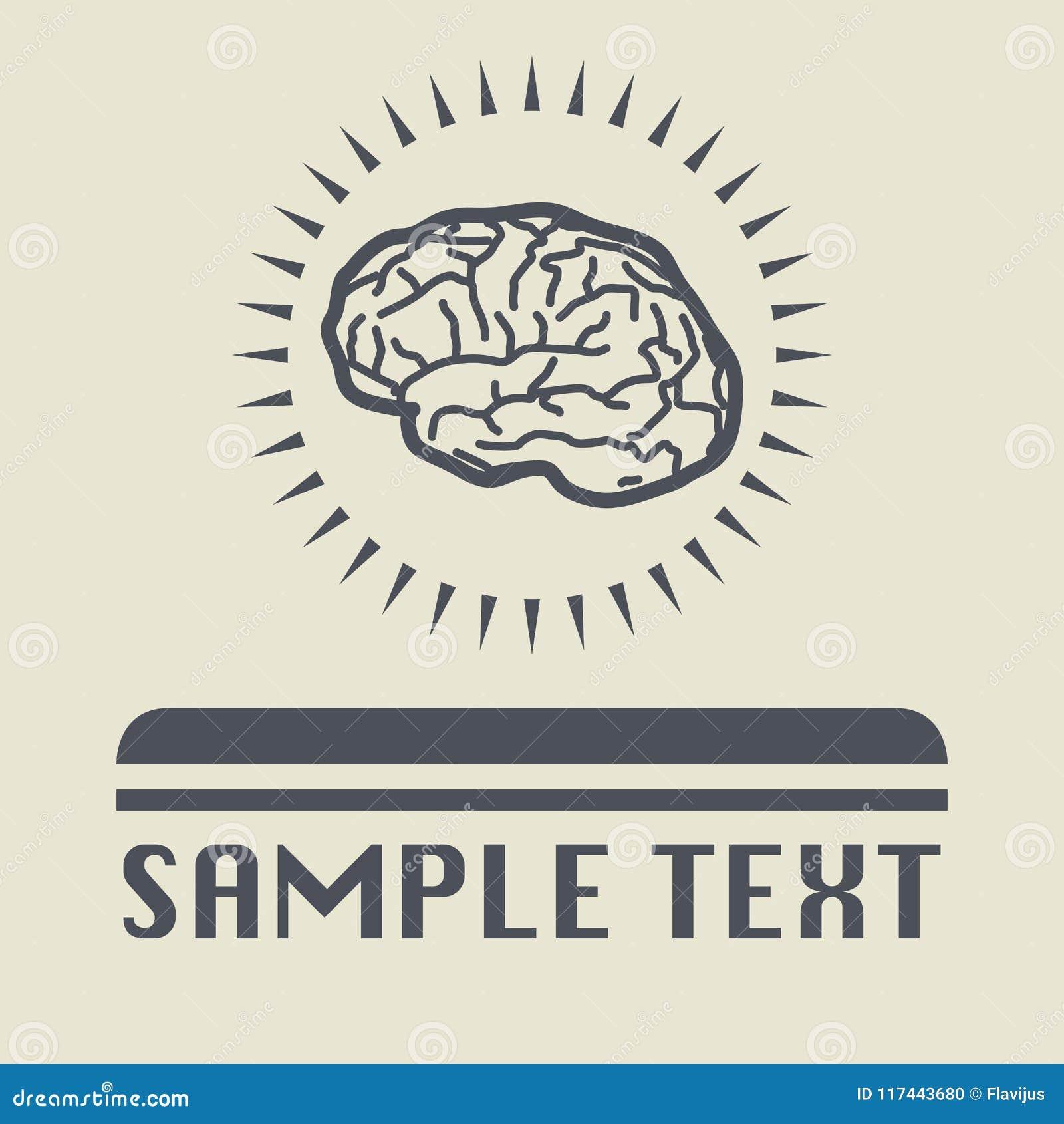 Icono o muestra del cerebro