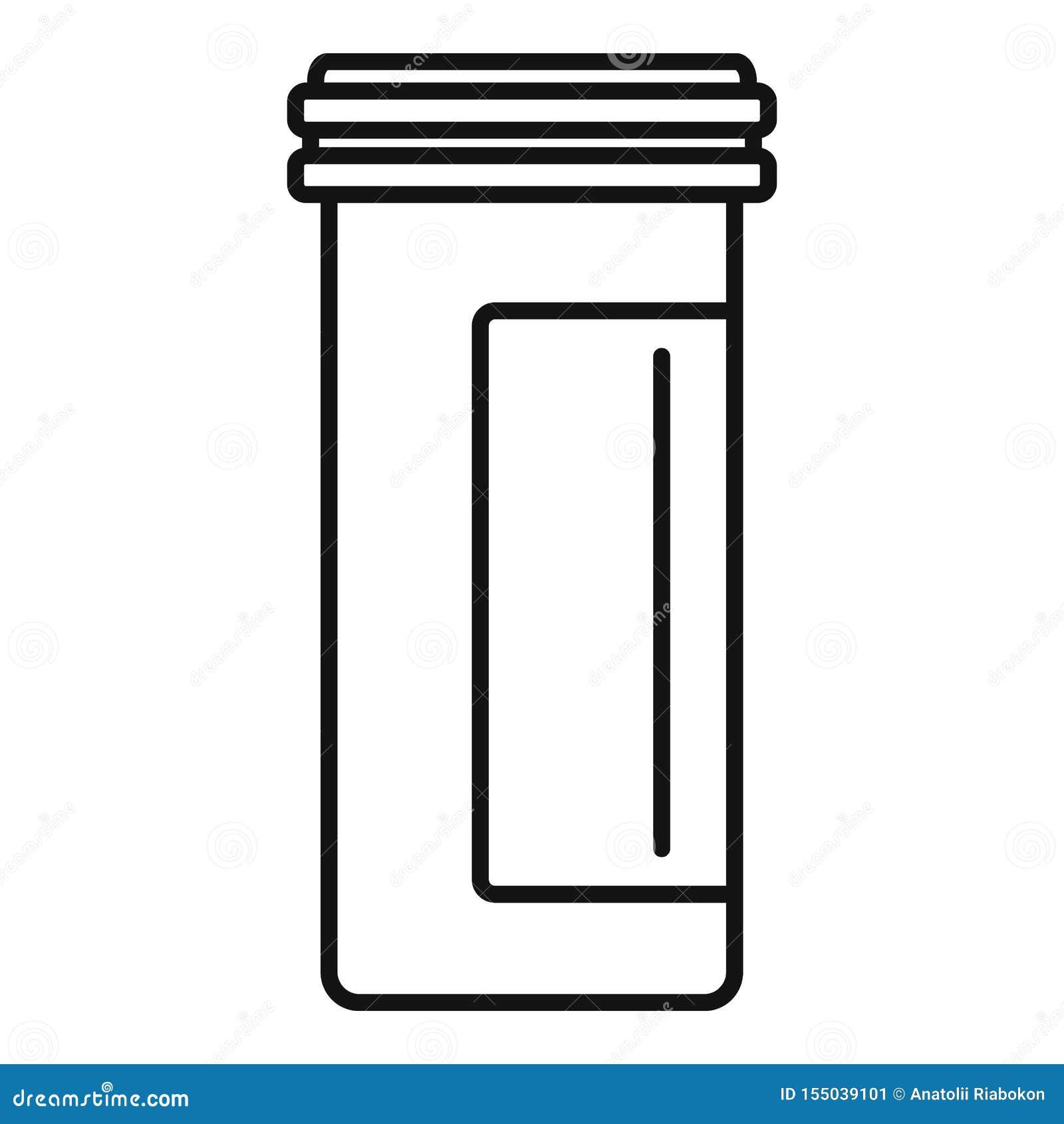 Icono plástico antibiótico del tarro, estilo del esquema