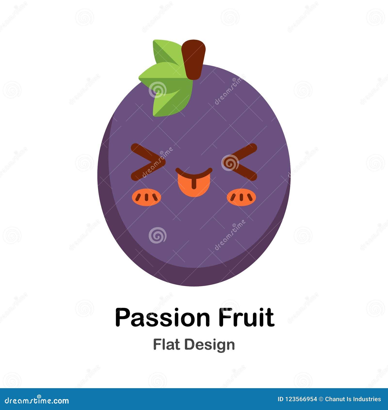 Icono plano de la fruta de la pasión