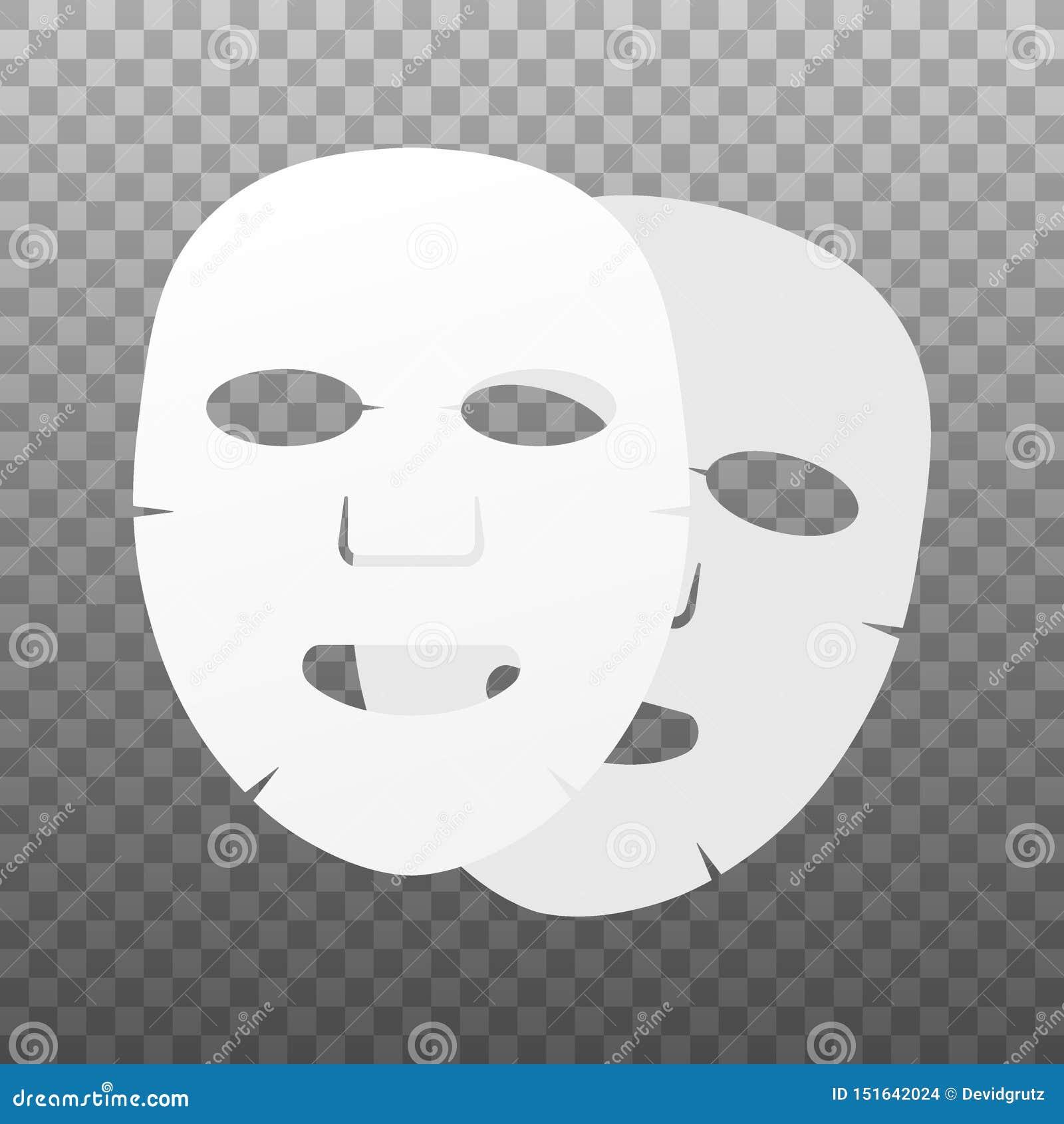 Icono plano de la m?scara facial Medicina, cosmetolog?a y atenci?n sanitaria Ilustraci?n com?n del vector